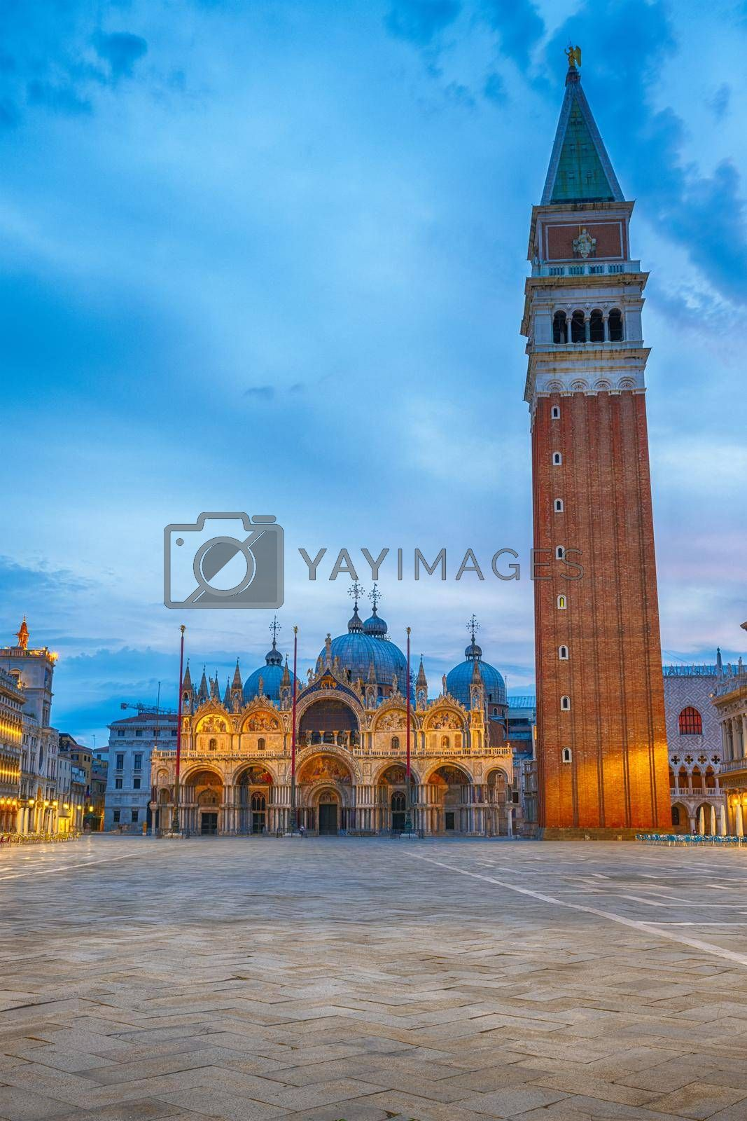 St Marks square in Venice at dawn by elxeneize