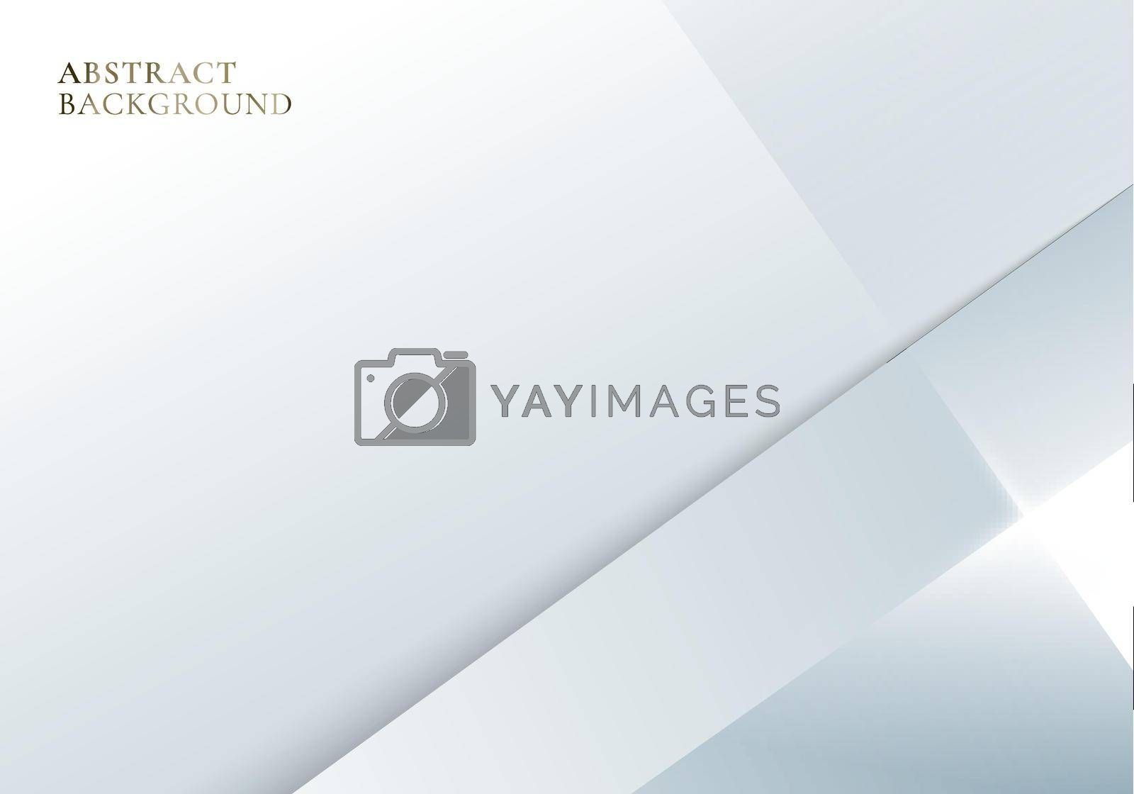 Abstract simple template white and gray geometric or stripes layered with lighting background. Vector illustration