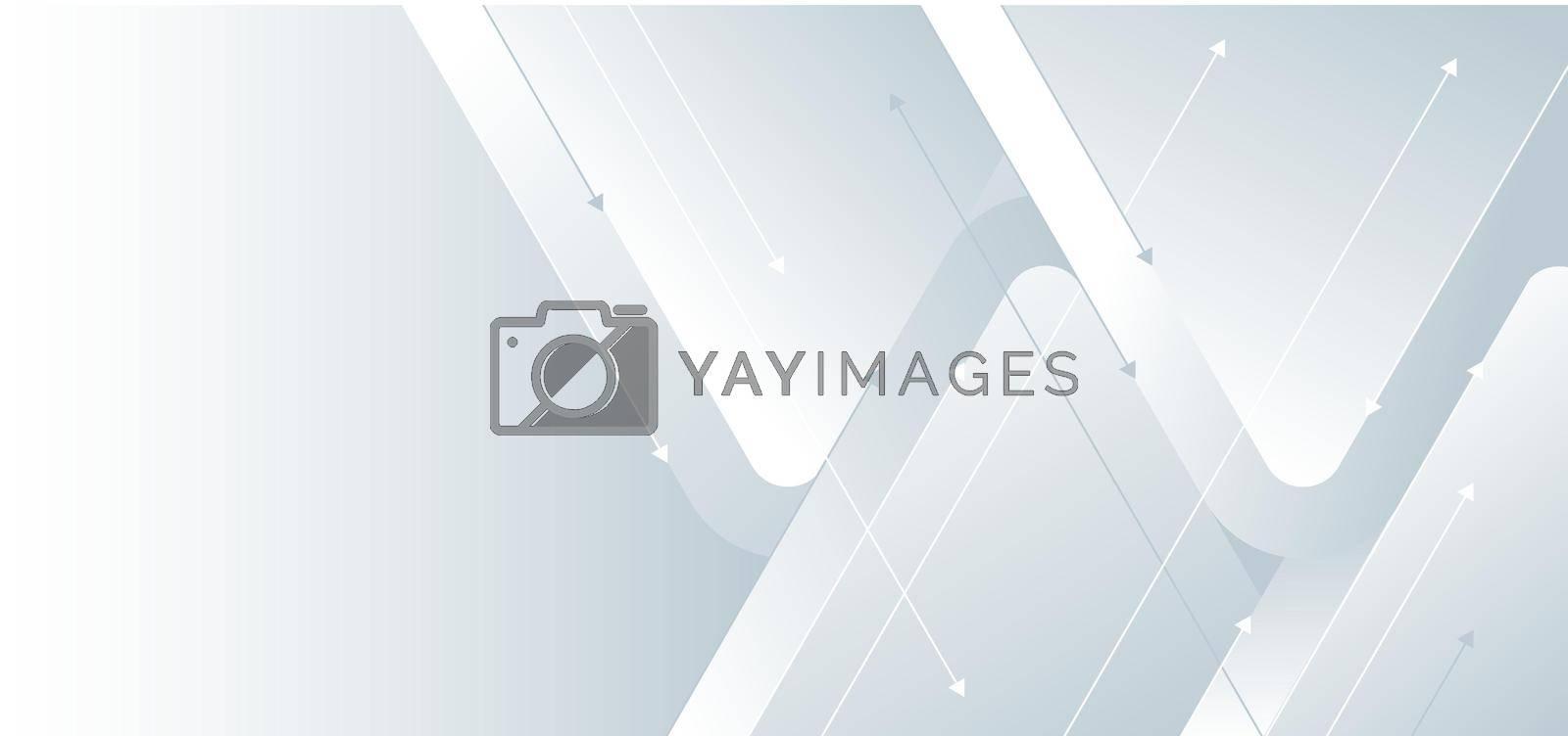 White gradient arrow direction design background. Geometric element . Vector illustration