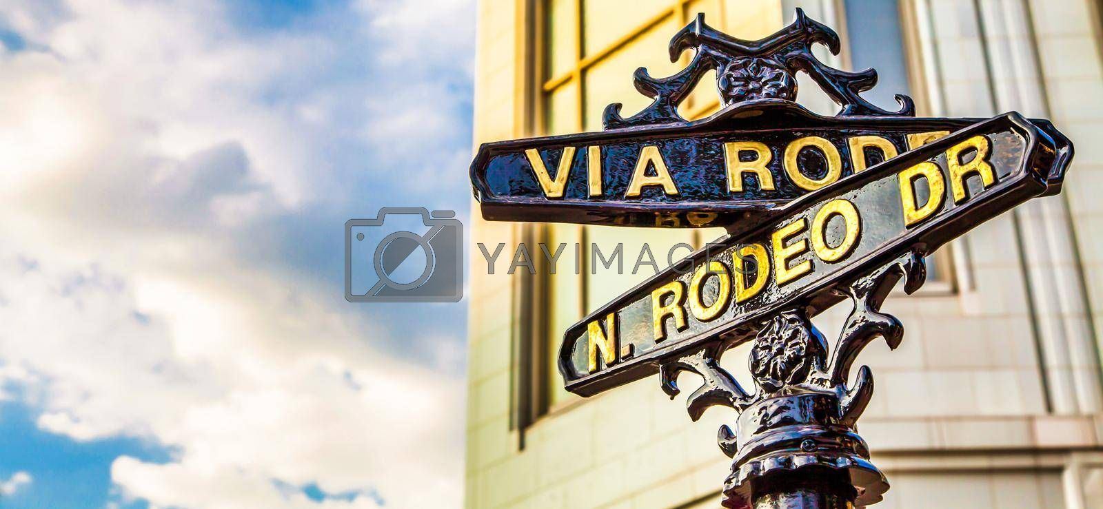 The famous Rodeo Drive in Los Angeles, California. Street for shopping, luxury and fashion.