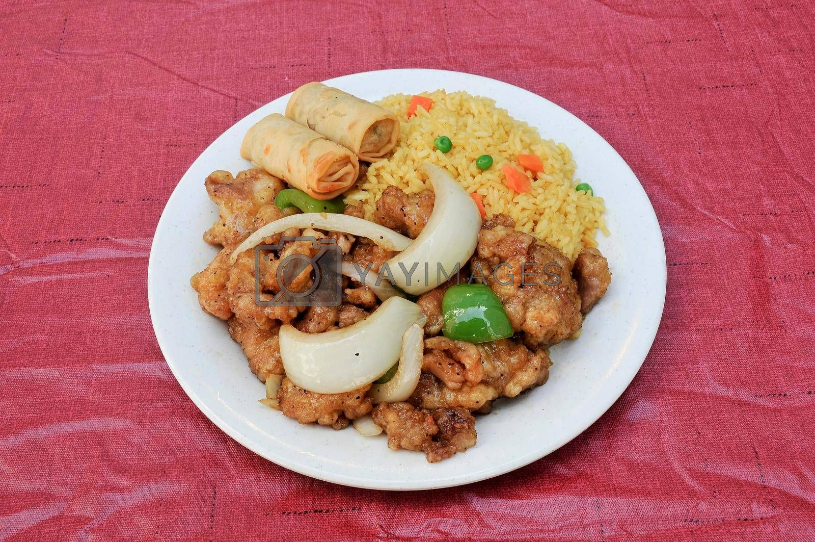 Traditional Chinese dish known as black pepper chicken