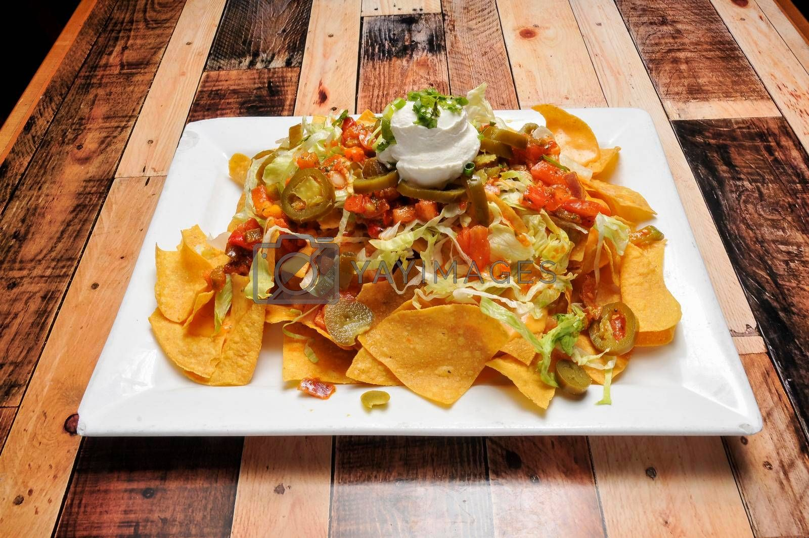 Traditional and Authentic Mexican cuisine known as nachos