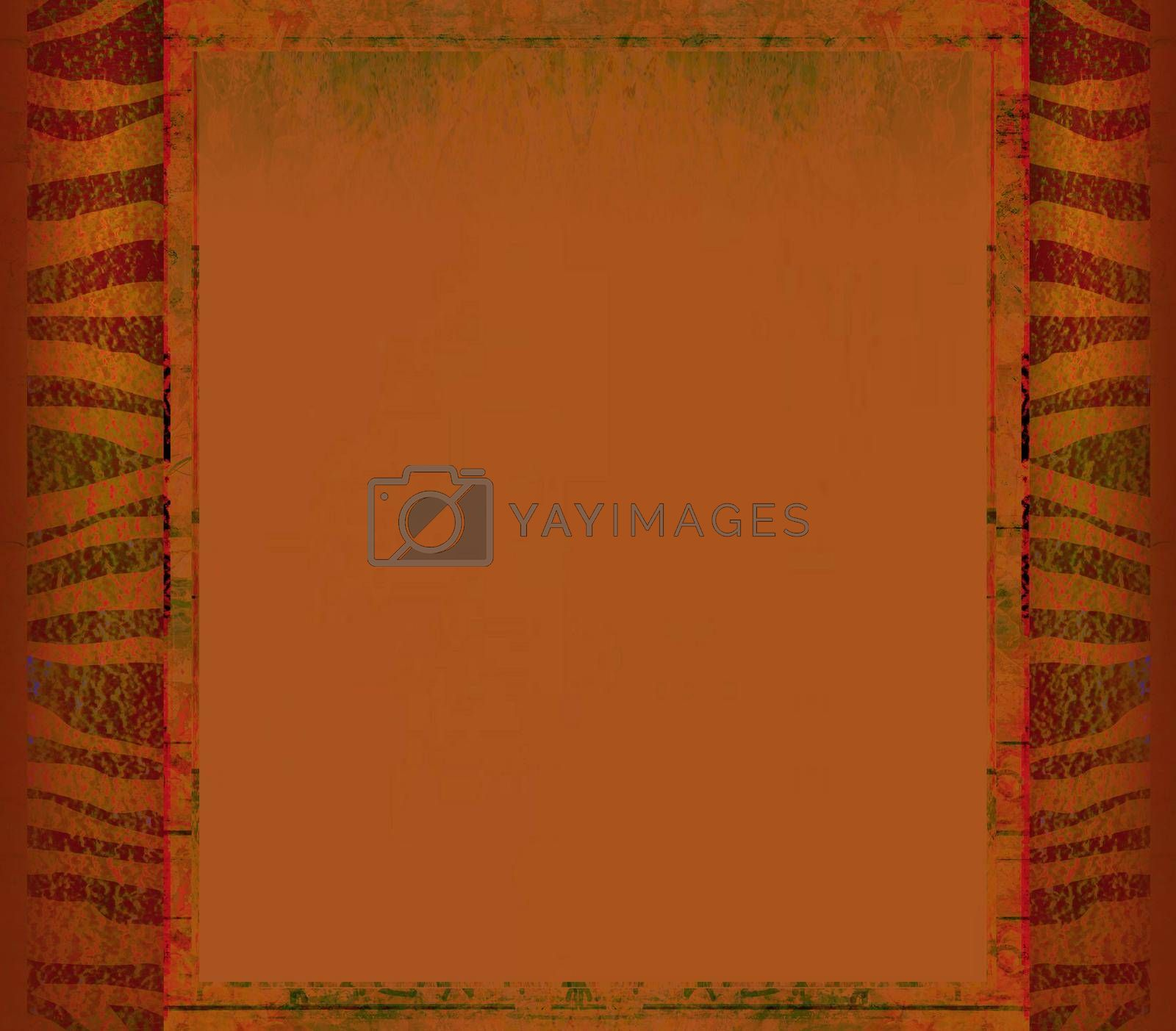 Royalty free image of Grunge frame - african traditional patterns by JackyBrown