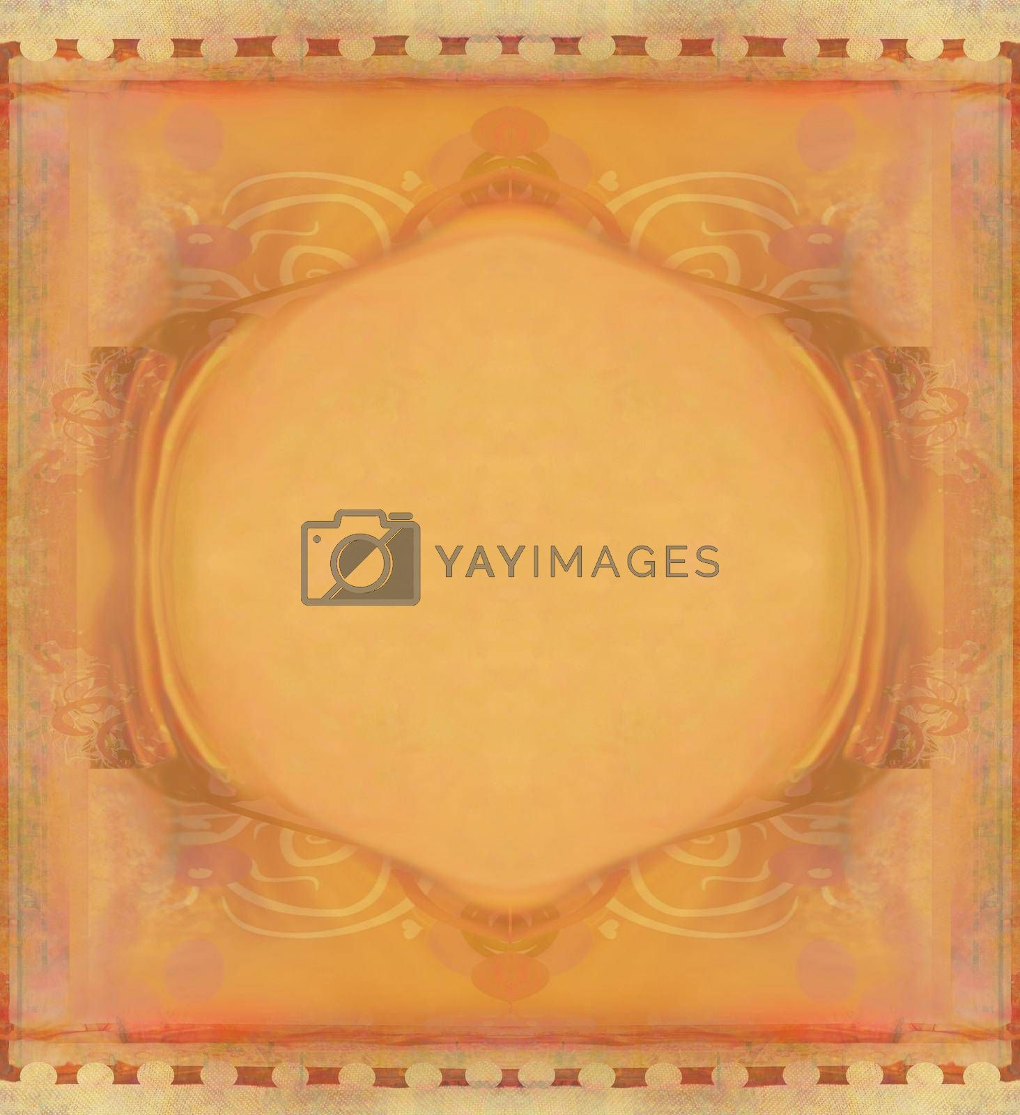 Royalty free image of Vintage Grunge Frame For Congratulation by JackyBrown