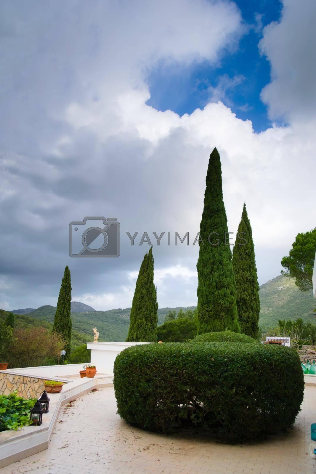 Royalty free image of Mediterranean style terrace in Italy. by hernan_hyper