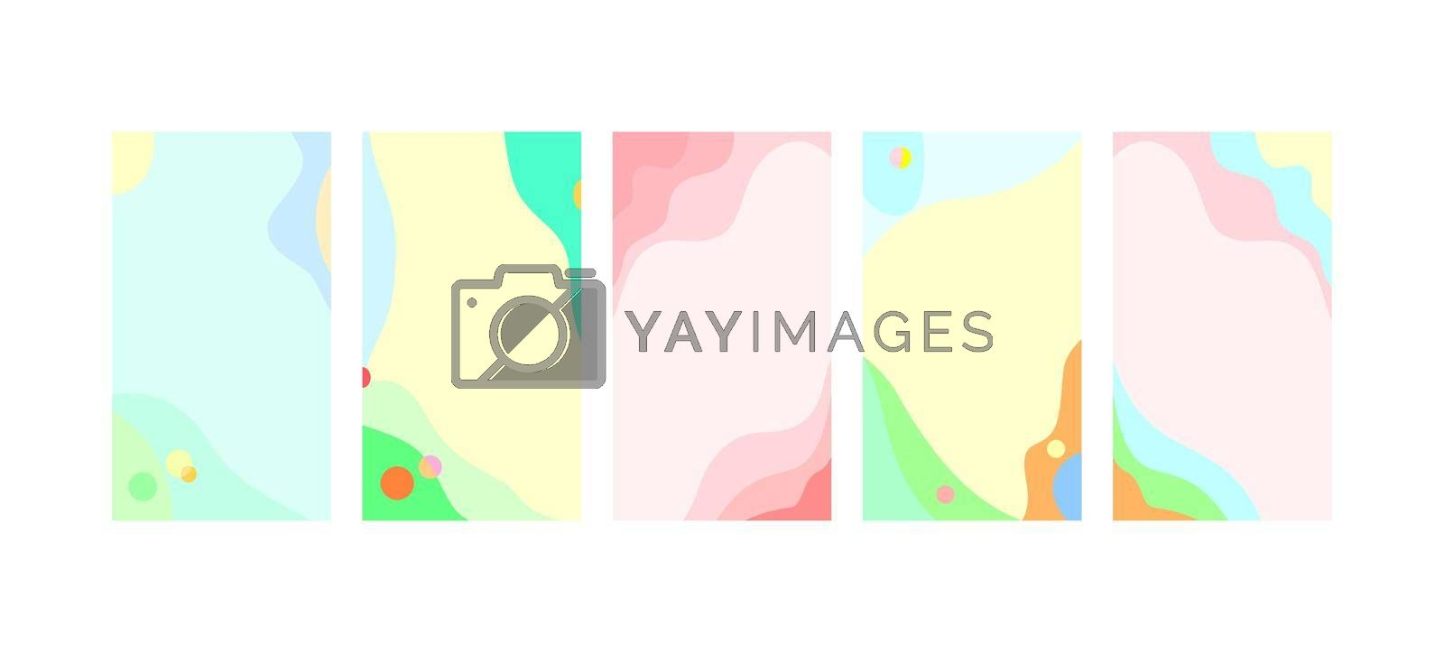 Abstract trendy summer spring background by liolle