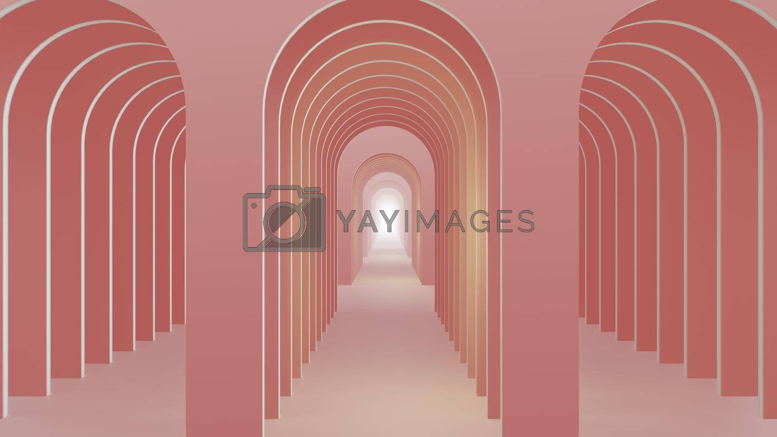 3D illustration Background for advertising and wallpaper in architecture and building scene. 3D rendering in decorative concept.