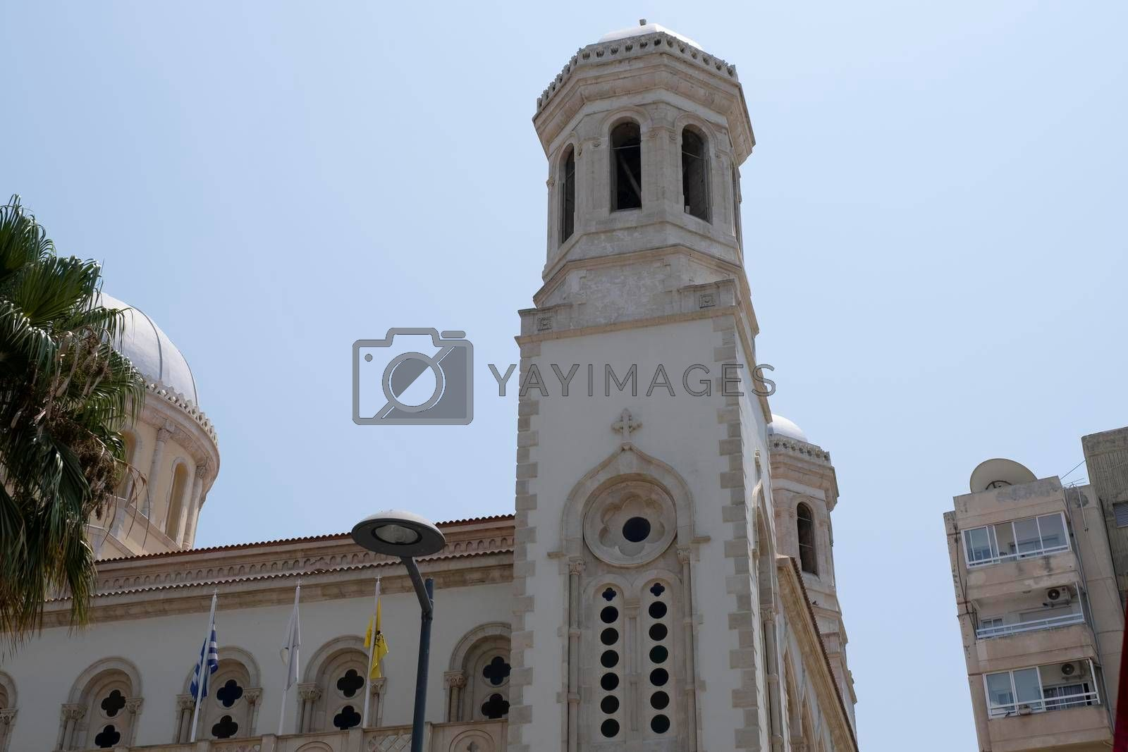 View of Ayia Napa Cathedral in Limassol, Cyprus. Beautiful view of Ayia Napa in the morning.