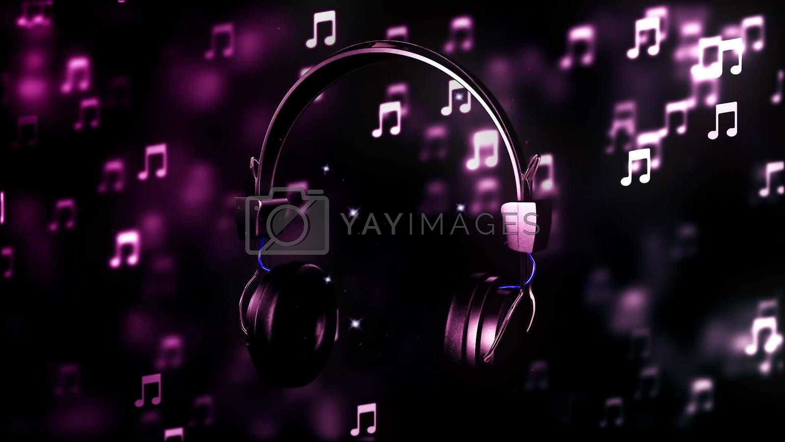 Abstract Background with nice abstract headphone