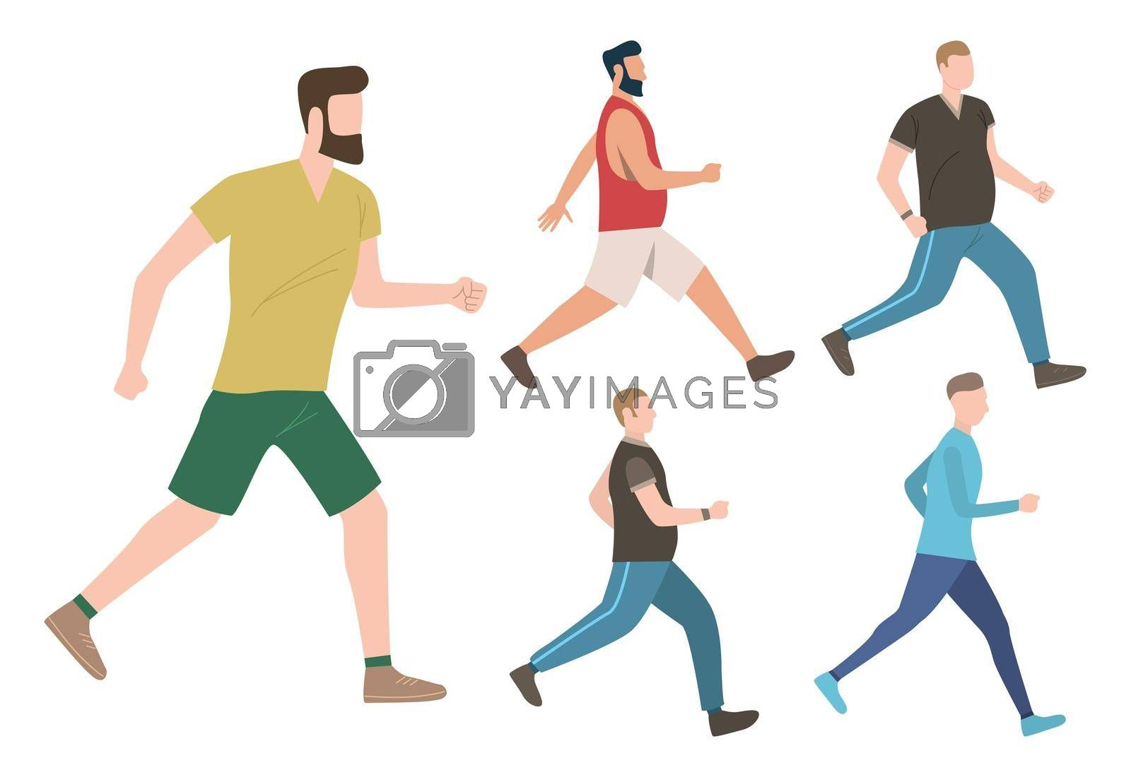Set of male keeping active lifestyle by mstjahanara