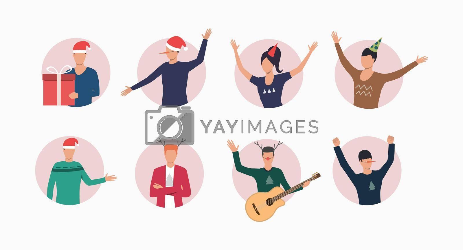 Royalty free image of Celebrating people set by mstjahanara