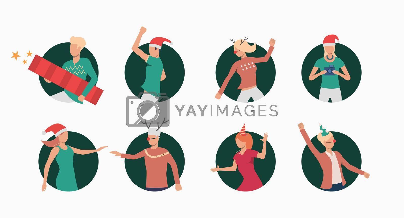 Royalty free image of Christmas people set by mstjahanara