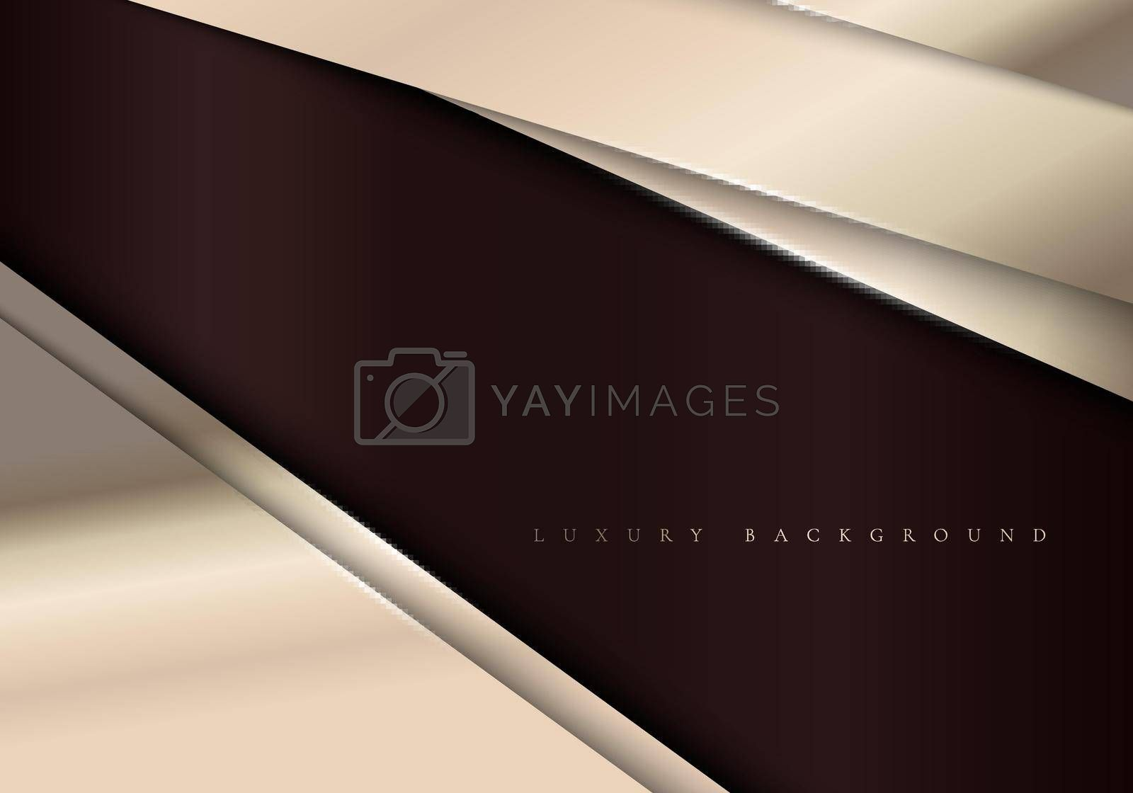 Royalty free image of Elegant metallic template background with diagonal golden stripes luxury style by phochi