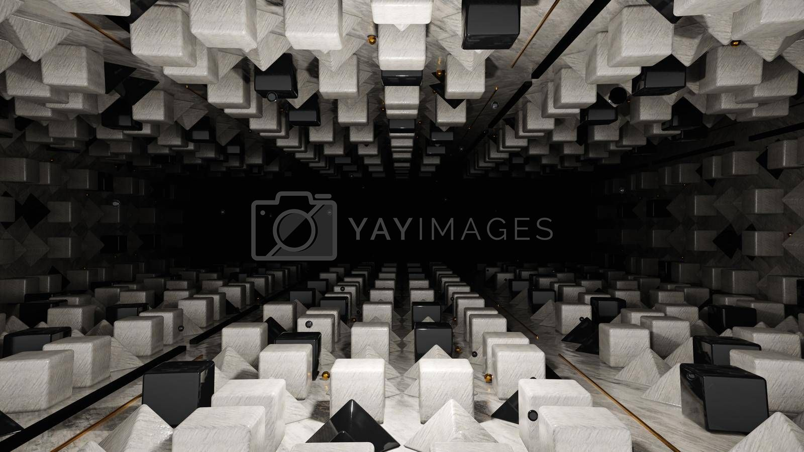 3D illustration Background for advertising and wallpaper in geometry style and abstract scene. 3D rendering in decorative concept