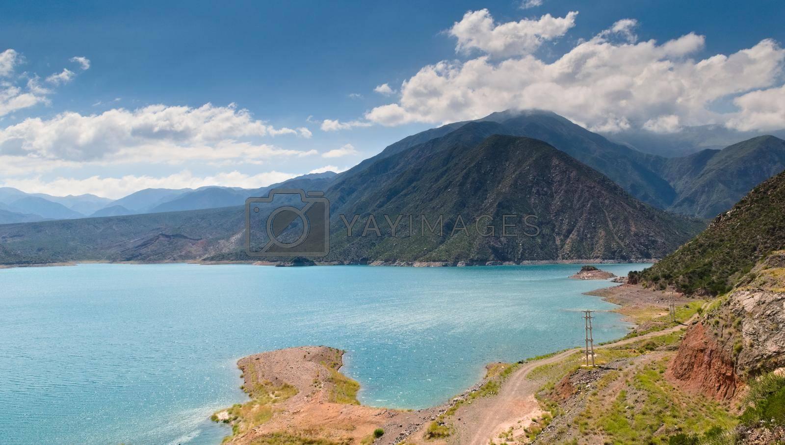 Royalty free image of Scenic view of Lake Potrerillos, in Mendoza, Argentina. by hernan_hyper