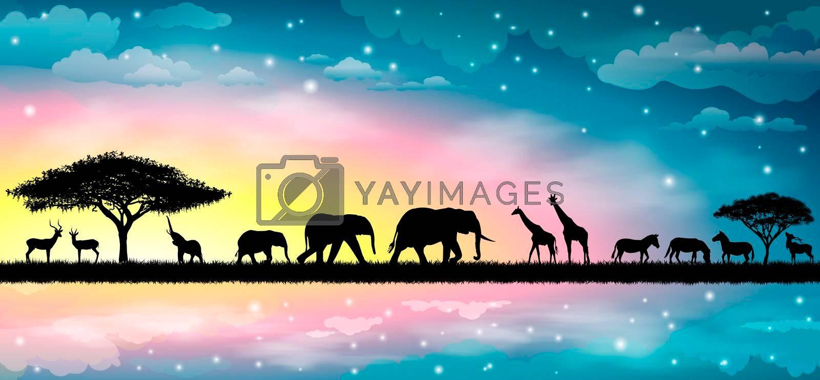 Savannah animals 1 by liolle