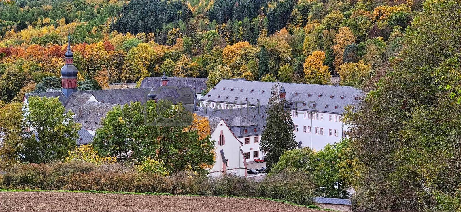 Monastery Ebersbach near Eltville in autumn