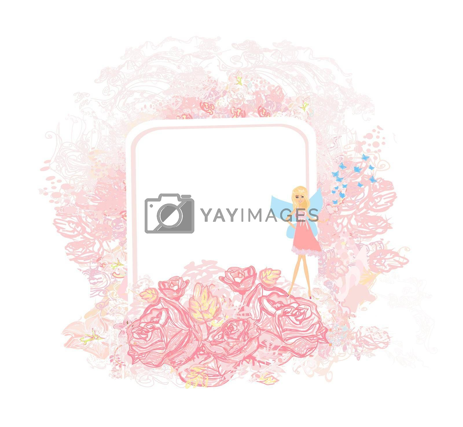 Royalty free image of Beautiful Fairy - floral girly card by JackyBrown