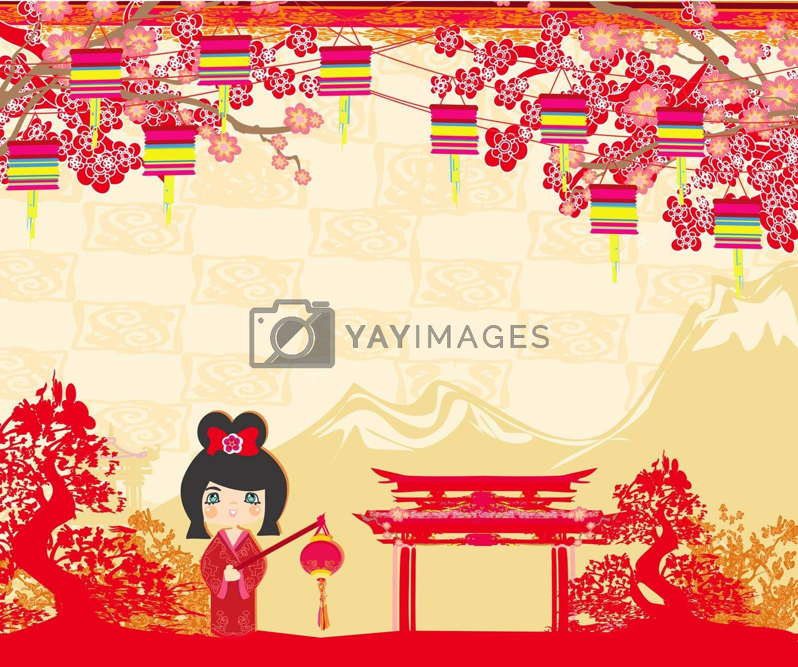 Royalty free image of Mid-Autumn Festival for Chinese New Year - card by JackyBrown