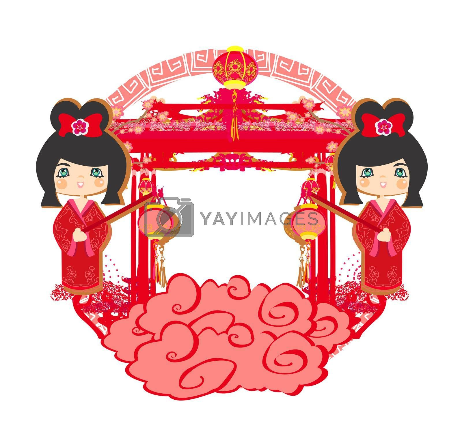 Royalty free image of Mid-Autumn Festival for Chinese New Year - decorative frame by JackyBrown