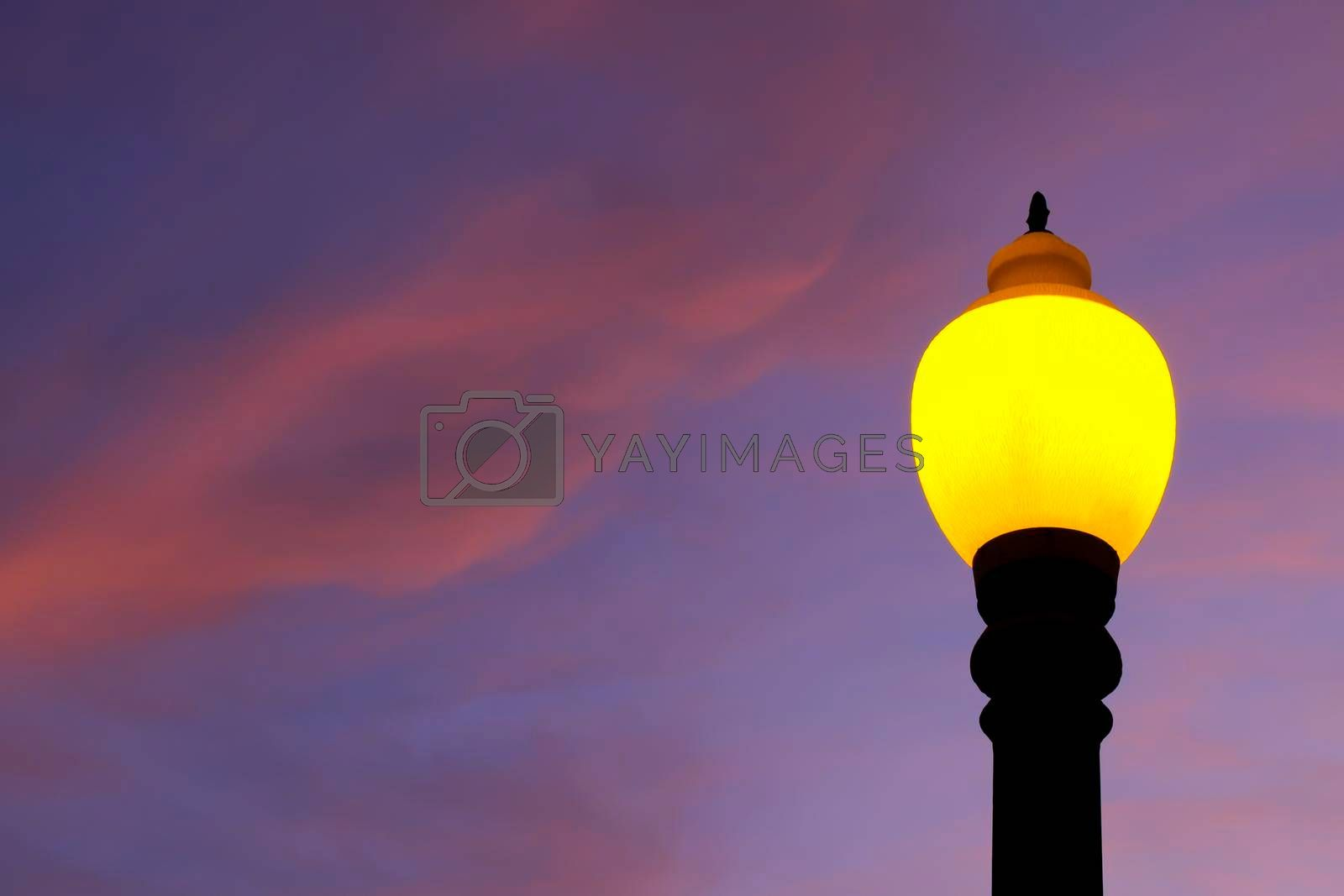 Royalty free image of Colorful lamppost in the afternoon. by soniabonet