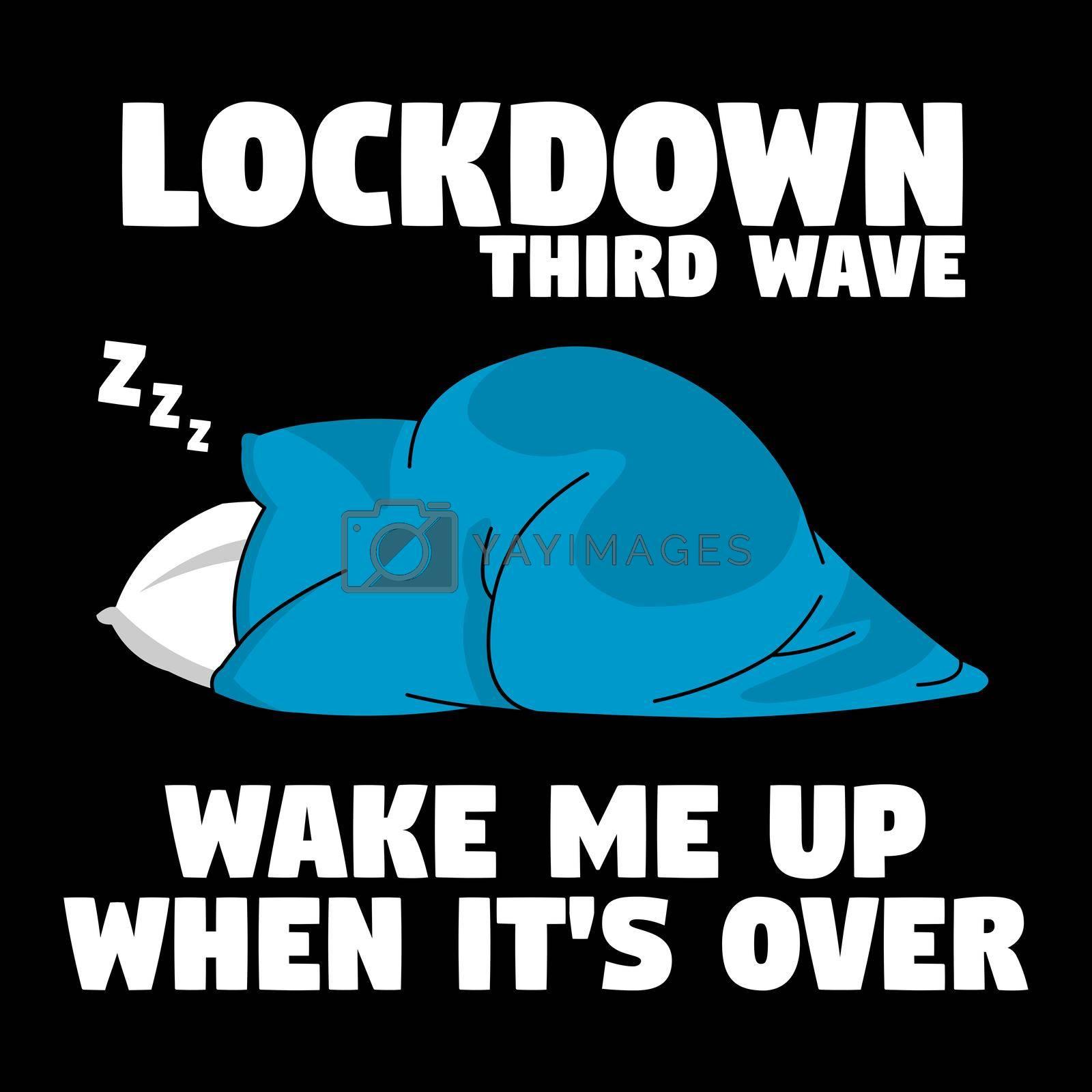 Royalty free image of Lockdown third wave by Bigalbaloo