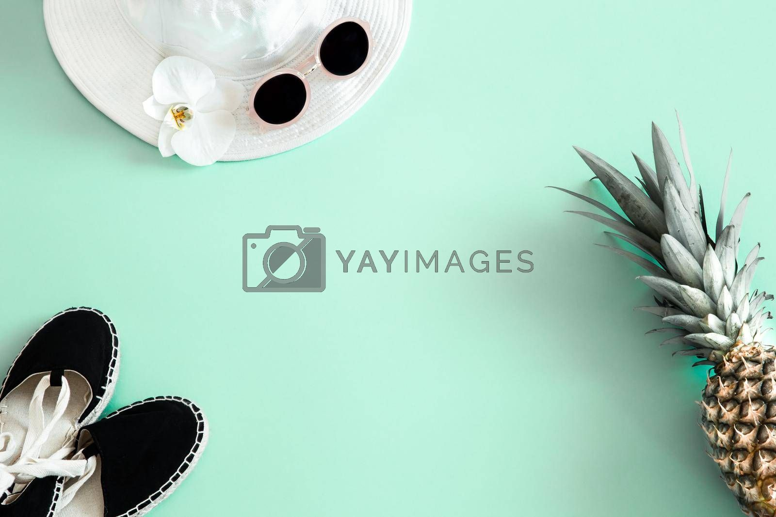 Royalty free image of Summer stylish background with summer different accessories. by vectorart