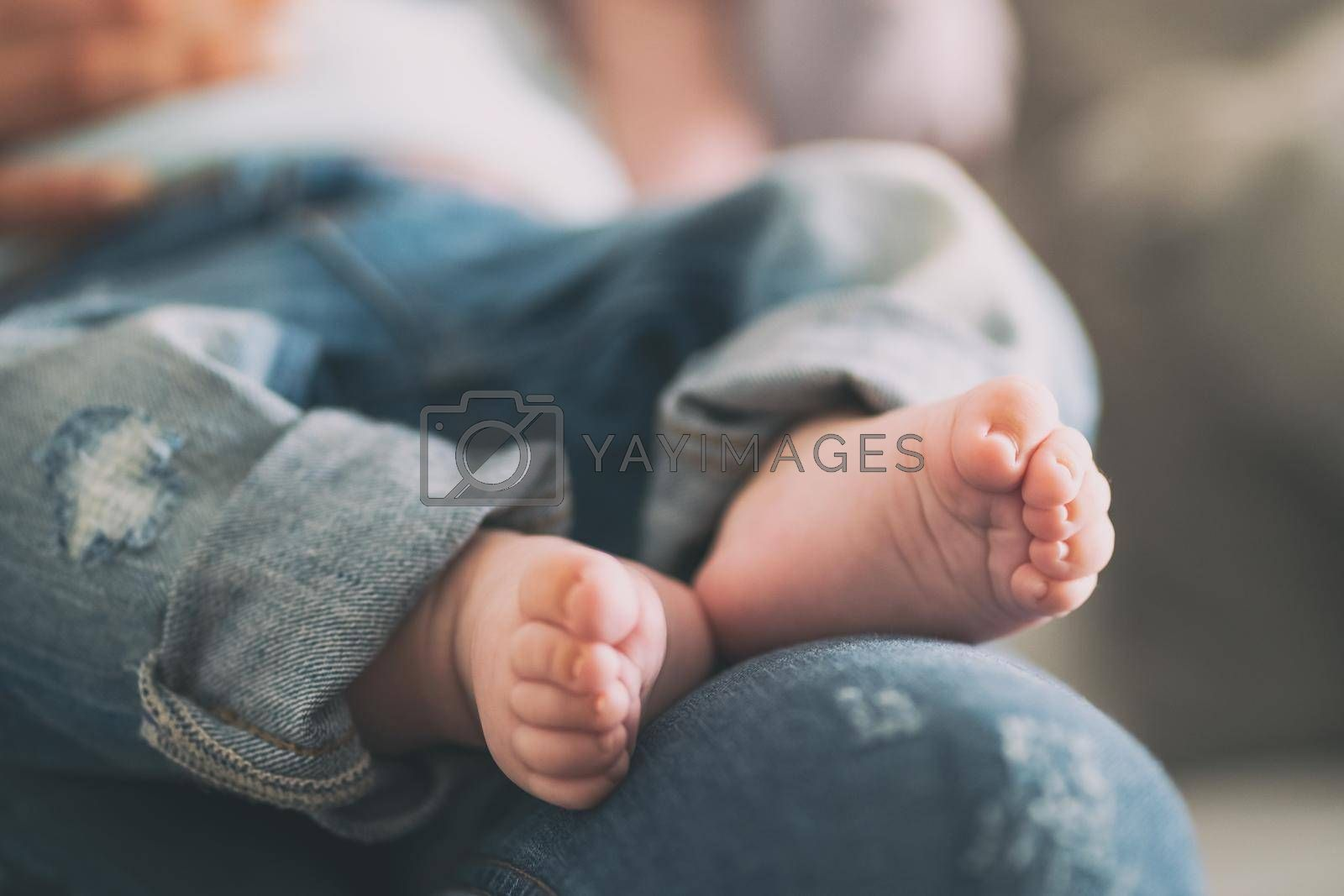 Close up image of baby feet.