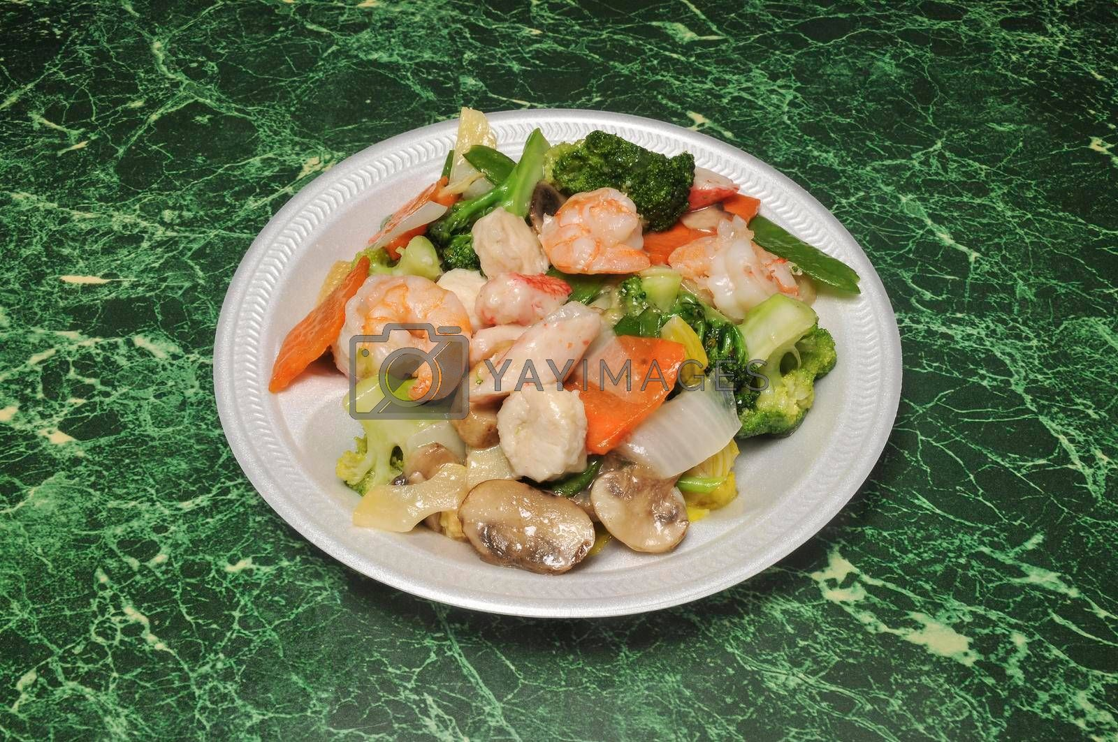 Delicious Chinese dish known best as seafood delight