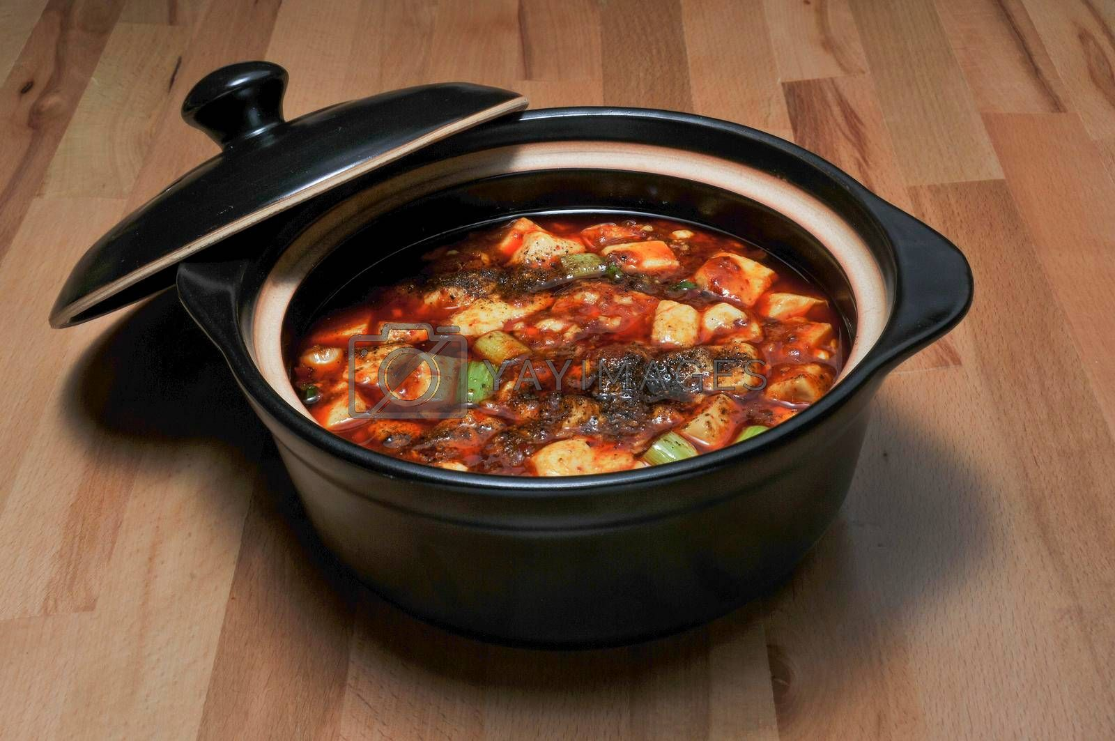 Delicious traditional and authentic Chinese Mapo Tofu