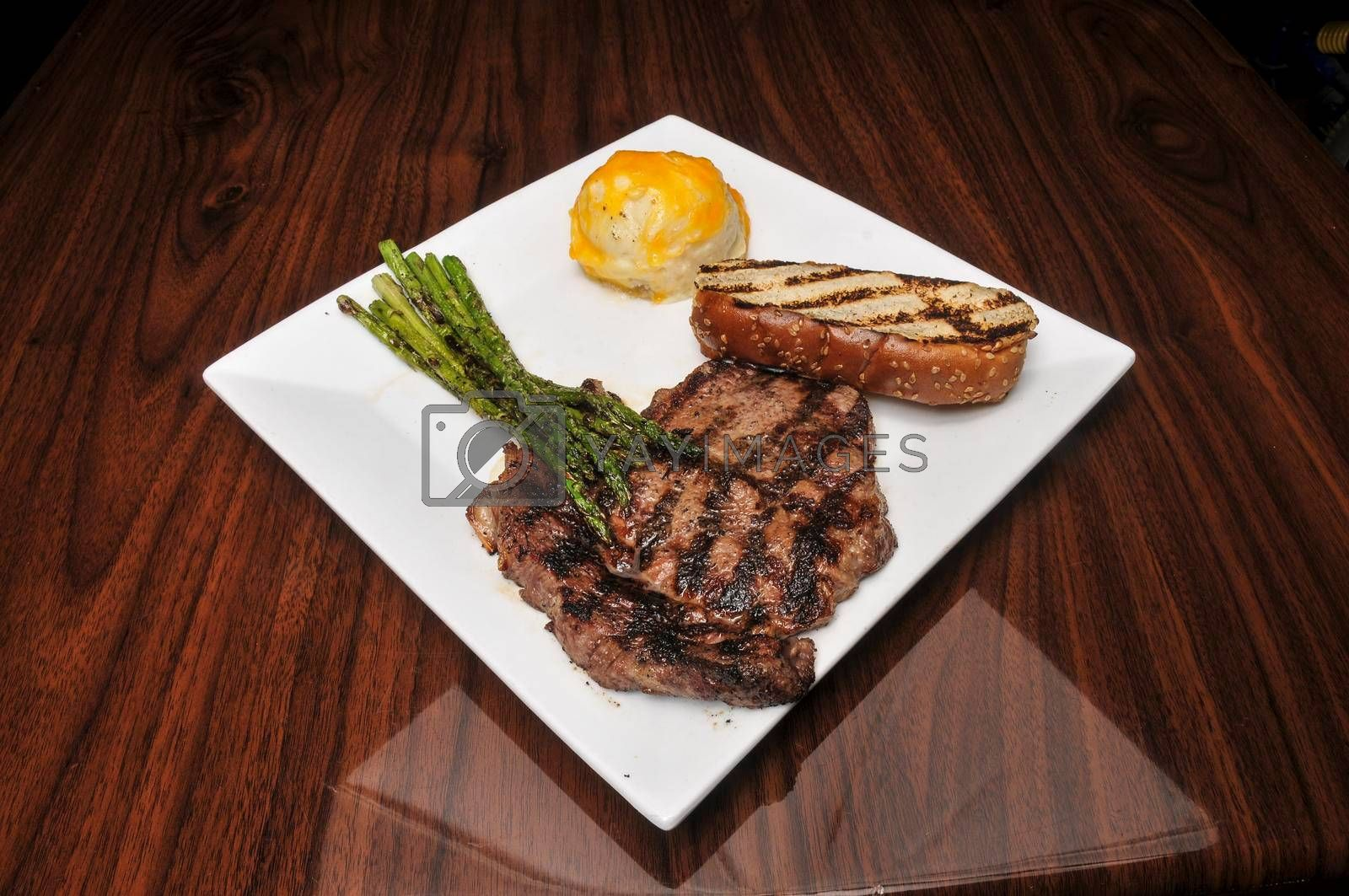 Delicious beef  steak ready to be eaten