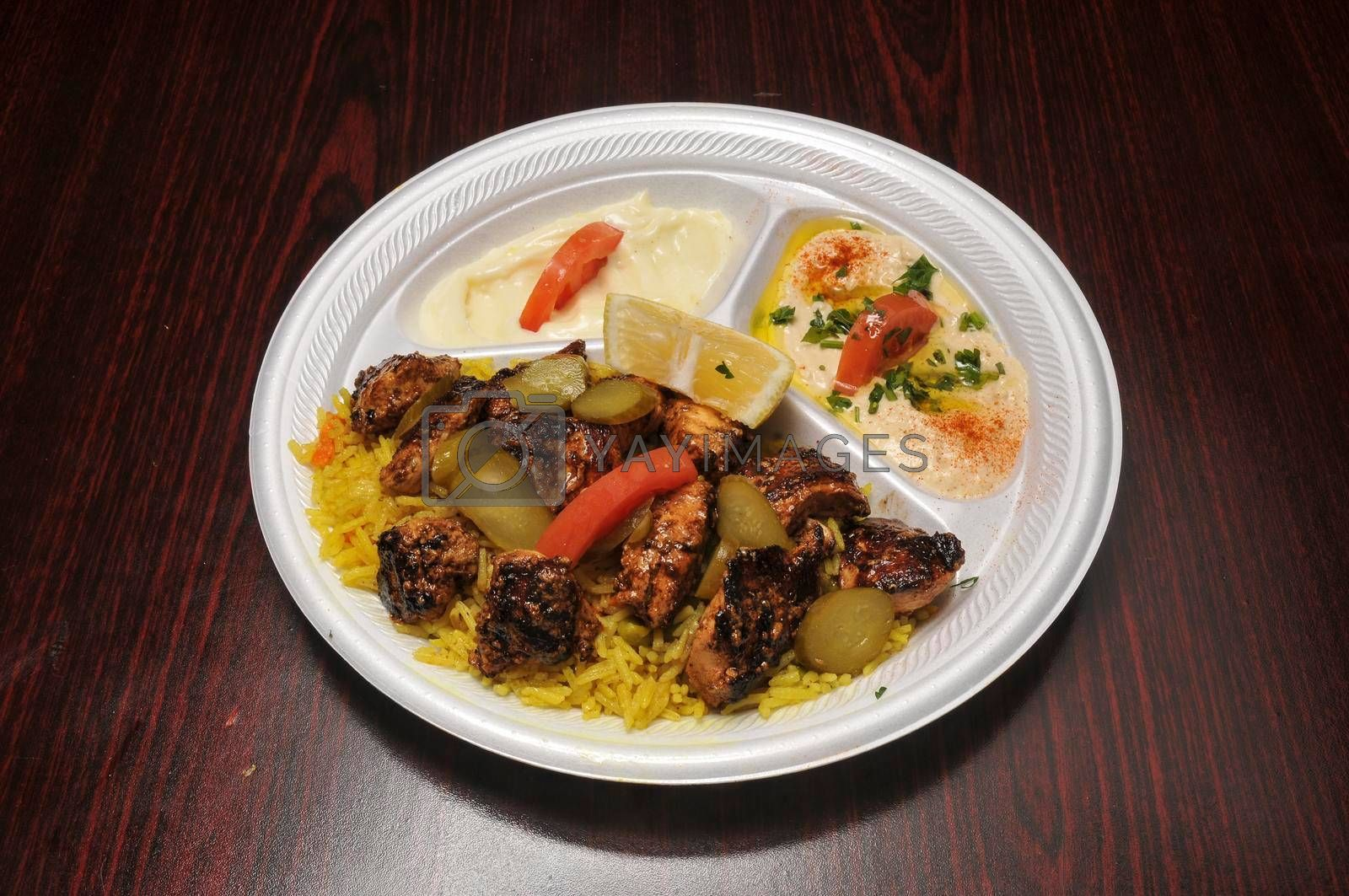Delicious and authentic dish known as the Mediterranean beef kebab