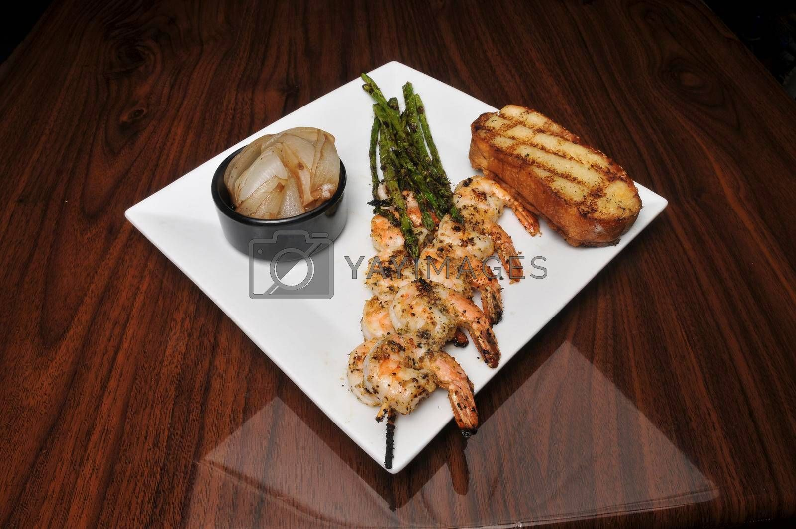 Royalty free image of Delicious Grilled Shrimp by robeo
