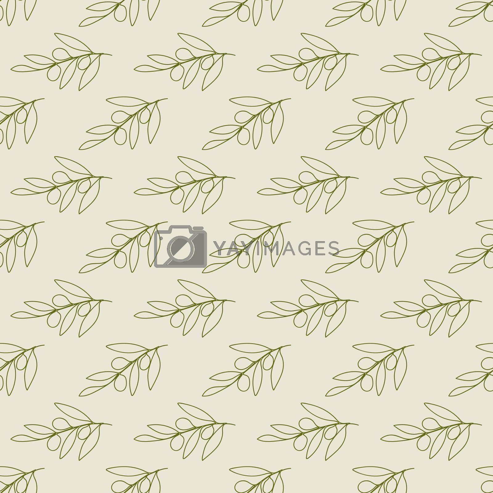 Royalty free image of Olive seamless pattern for textures, textiles, packaging and simple backgrounds by Grommik