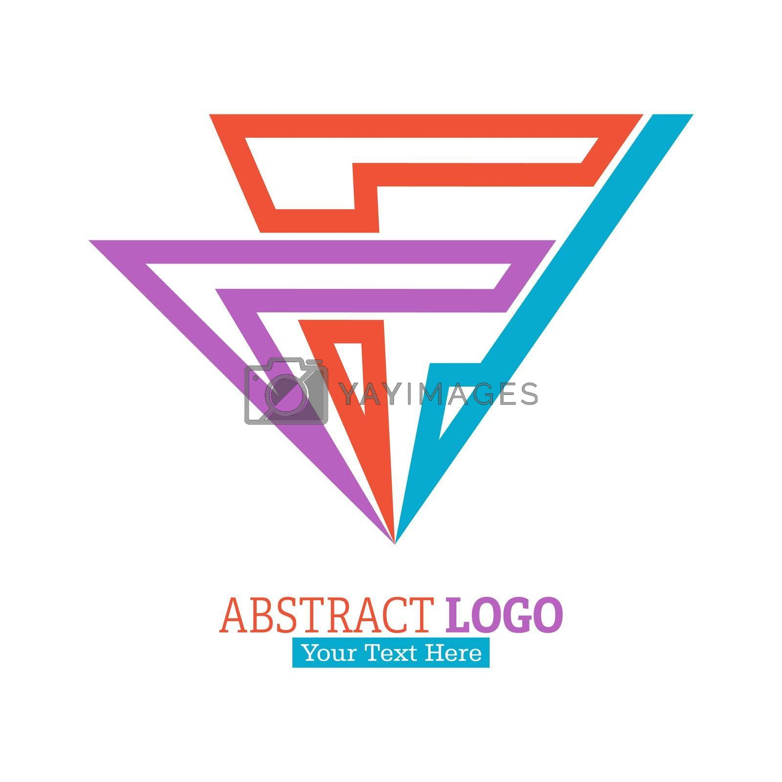 Abstract color logo. Vector illustration for a logo, brand, sticker, or logo isolated on a white background