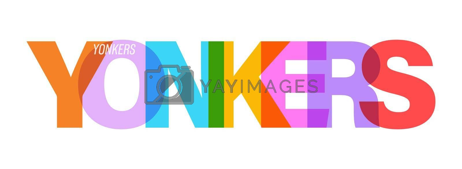 Royalty free image of YONKERS. Lettering on a white background. Vector design template for poster, map, banner by Grommik
