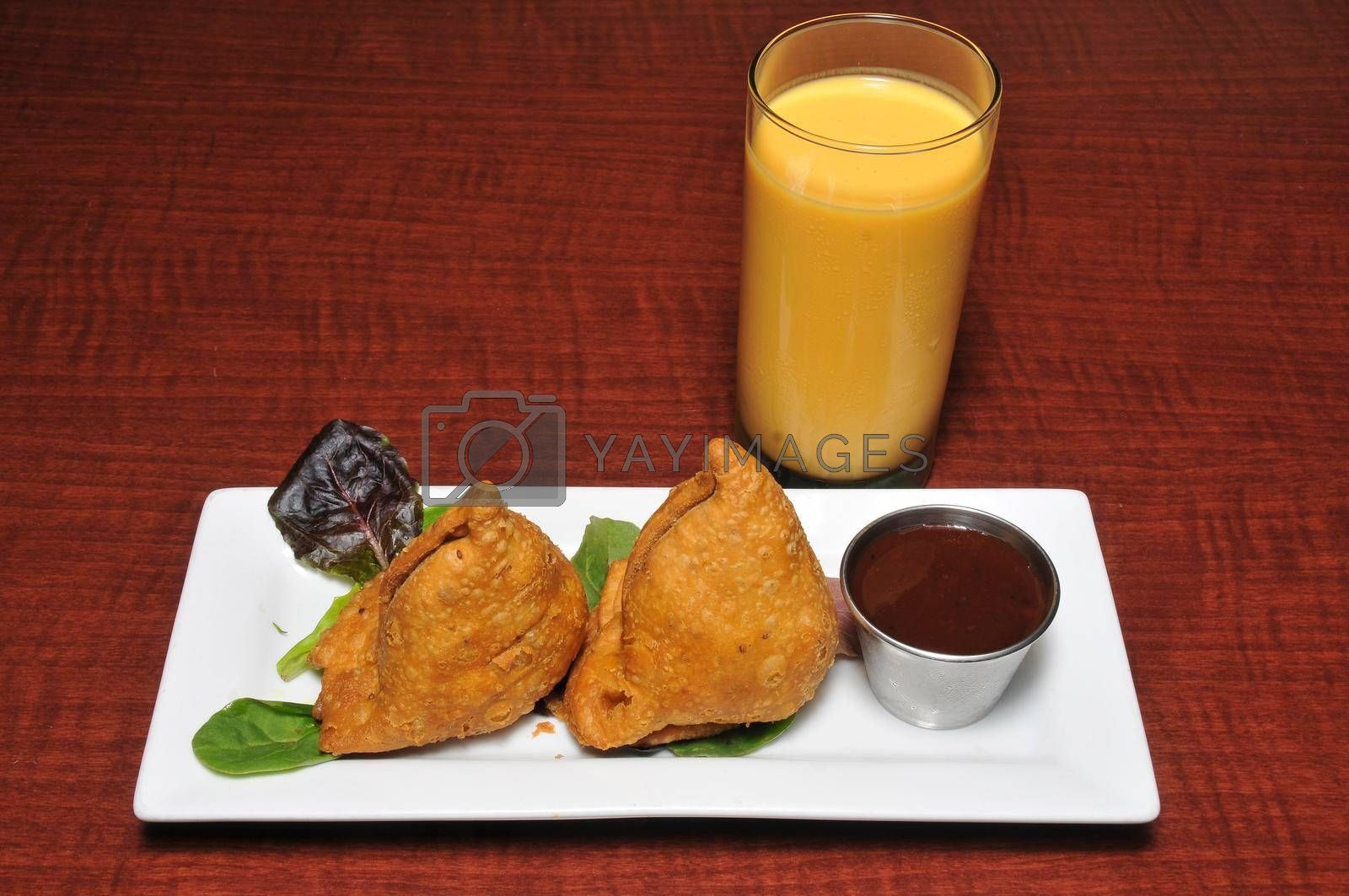 Royalty free image of Indian Vegetable Samosa by robeo