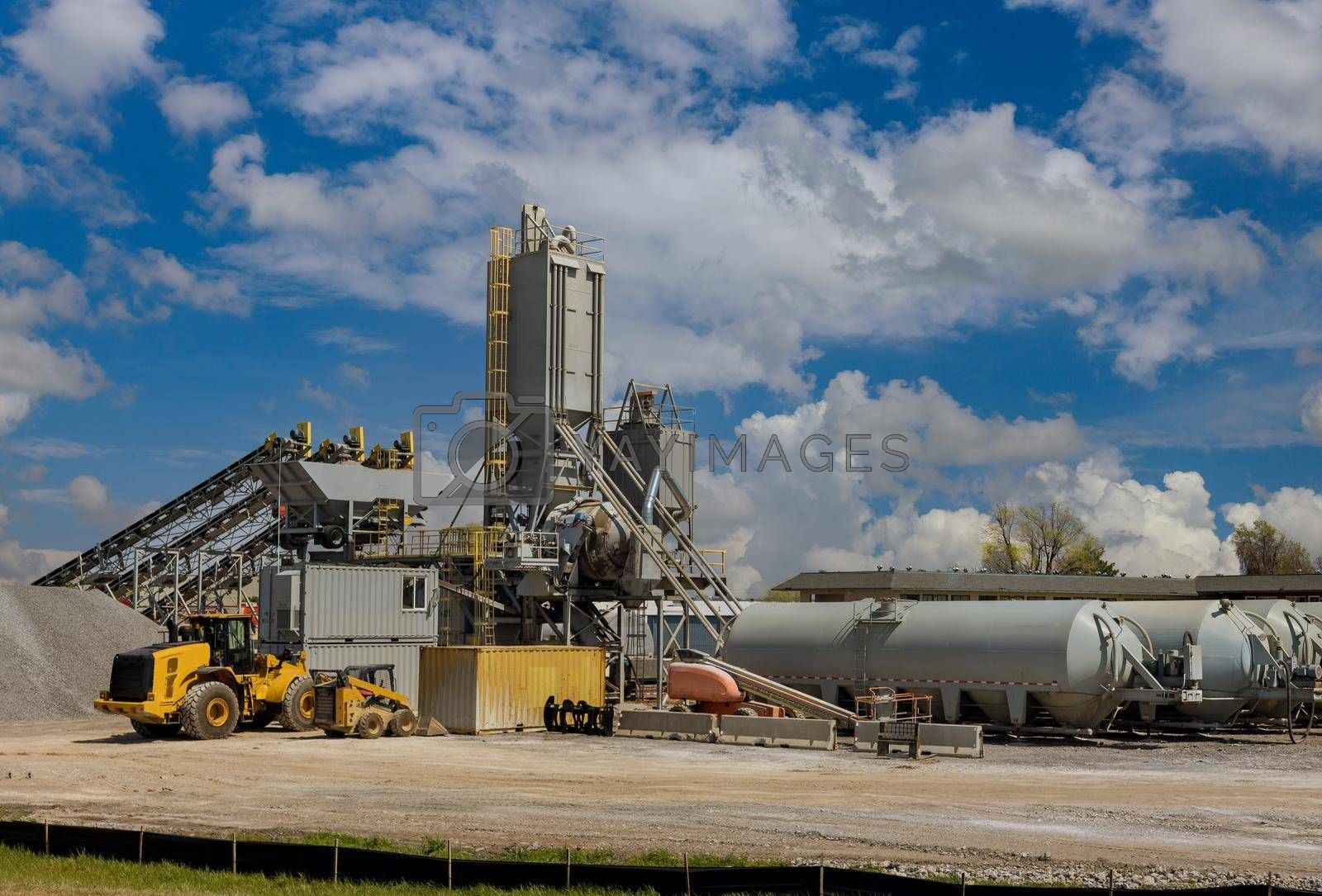 Sand Making Plant in crushing factory on machines and equipment for crushing, grinding stone bulk materials.