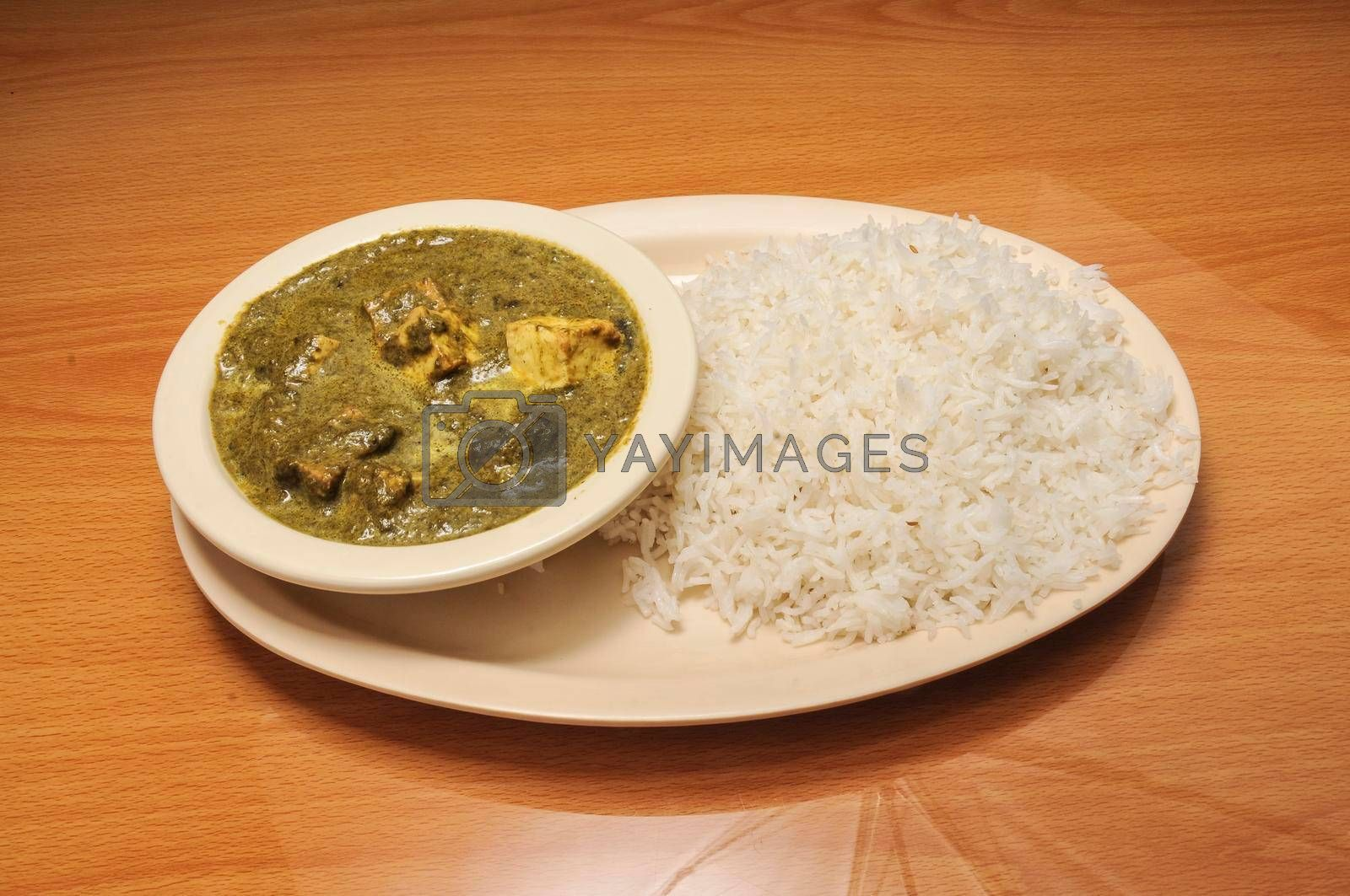 Royalty free image of Indian Spinach Paneer by robeo