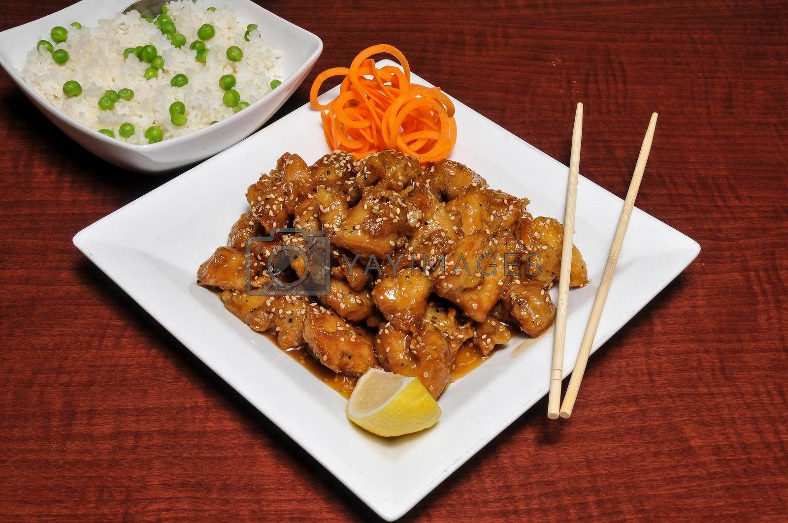 Royalty free image of Chinese Sesame Chicken by robeo