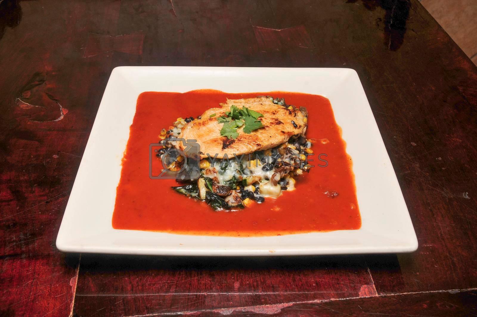 Delicious Mexican cuisine known best as pollo relleno
