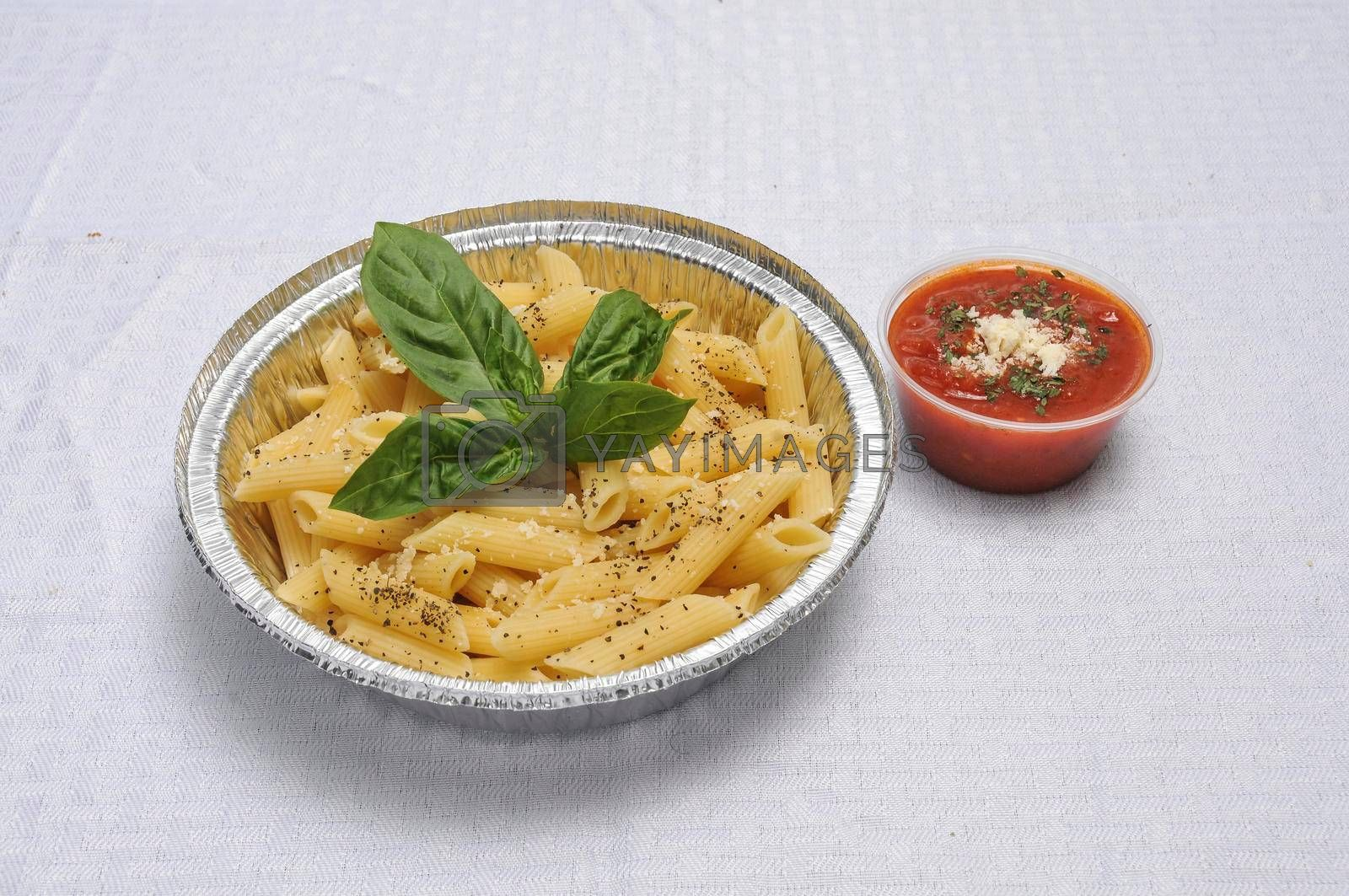 Delicious Italian dish known as penne pasta