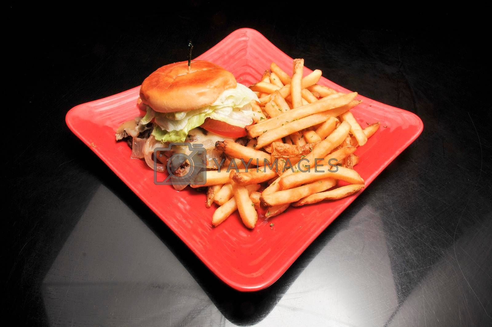 Royalty free image of Mushroom and Swiss Cheese Burger by robeo