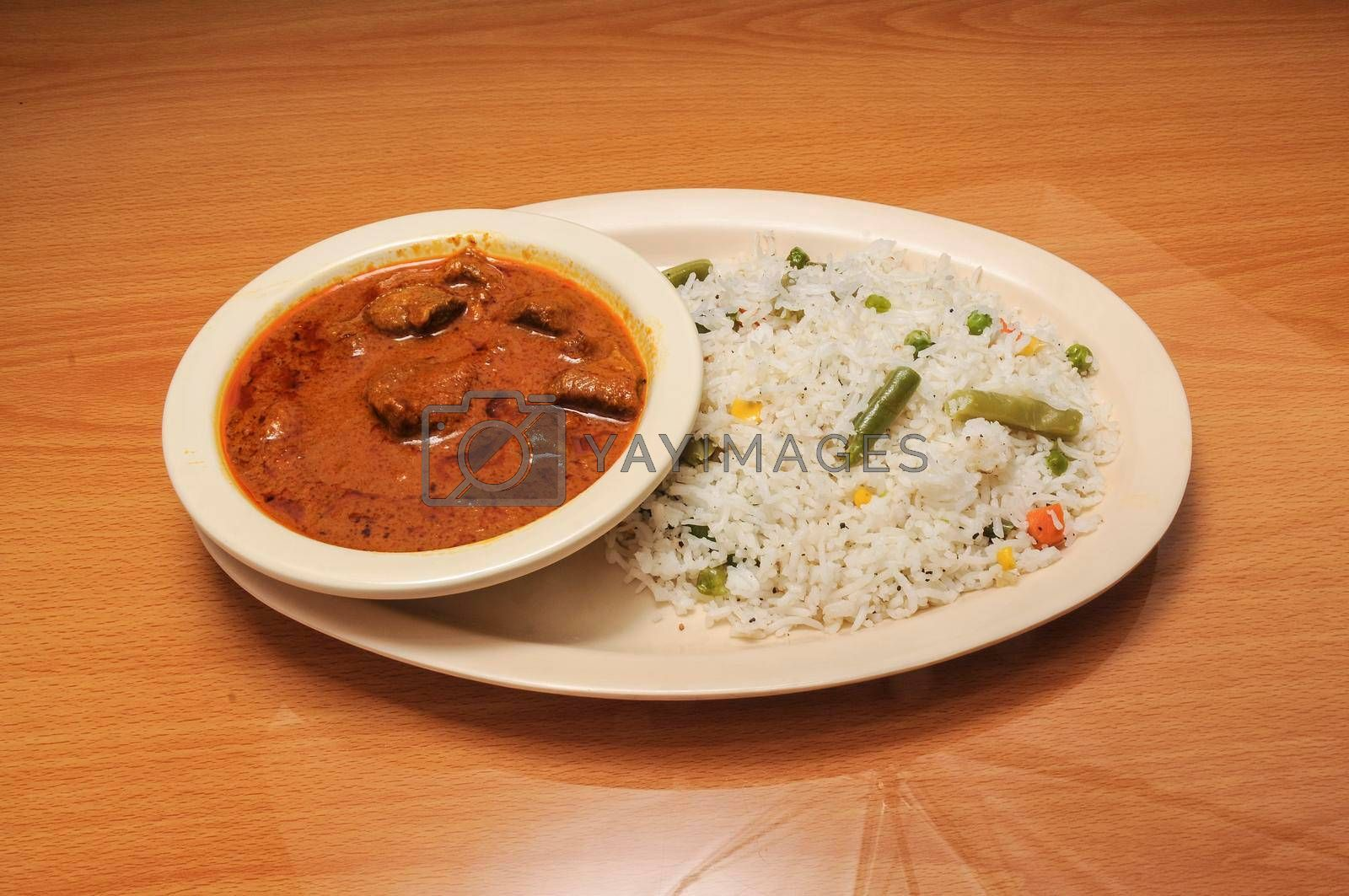 Delicious and authentic cuisine known as lamb curry