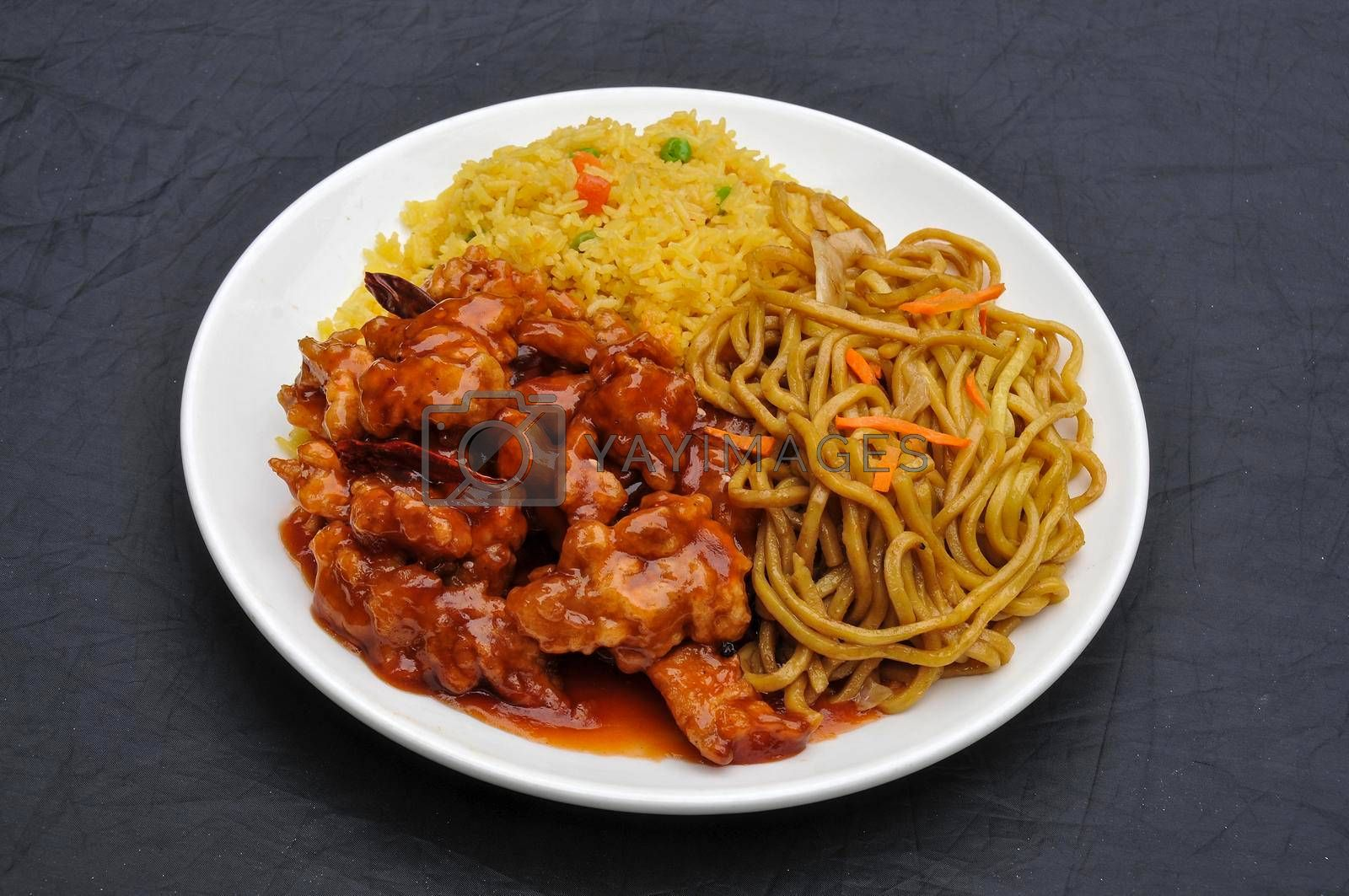 Traditional and authentic Chinese cuisine known as general tsu chicken