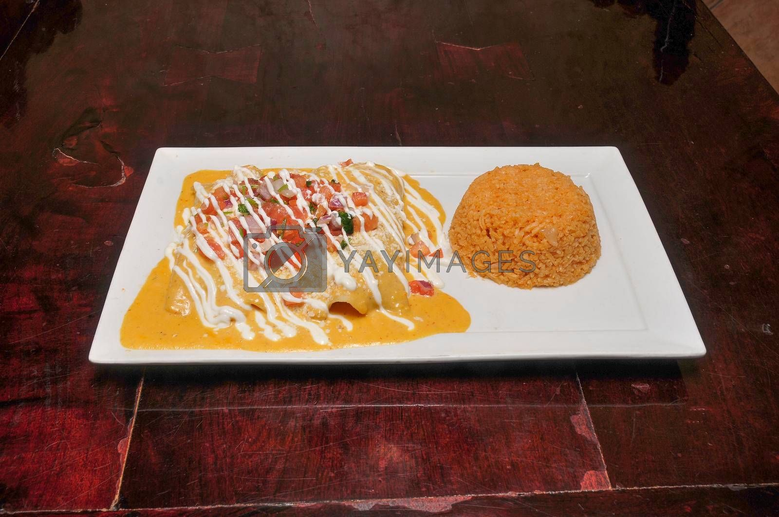 Royalty free image of Authentic Mexican Enchiladas by robeo