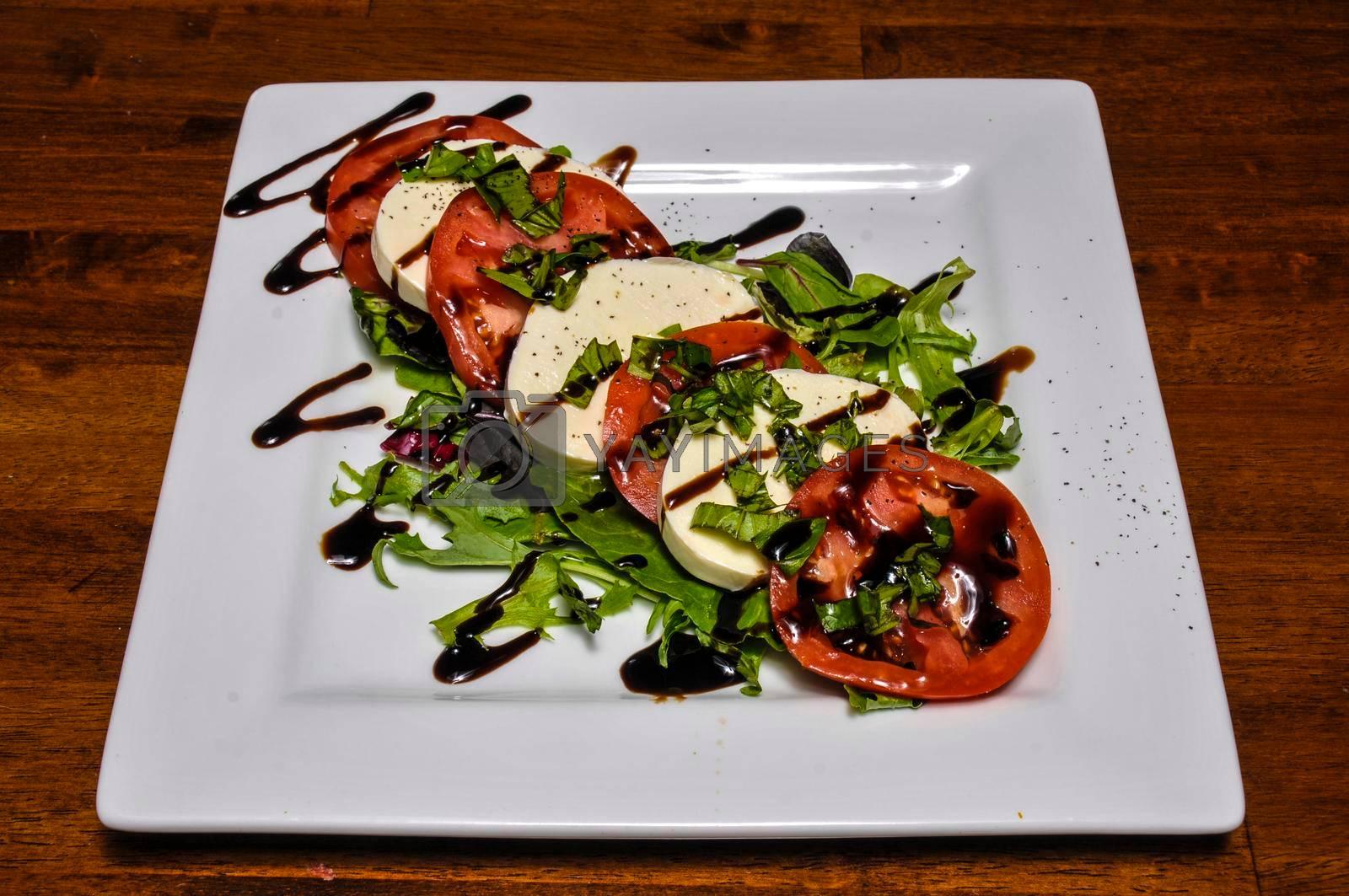 Delicious Mediterranean dish known as the caprese salad