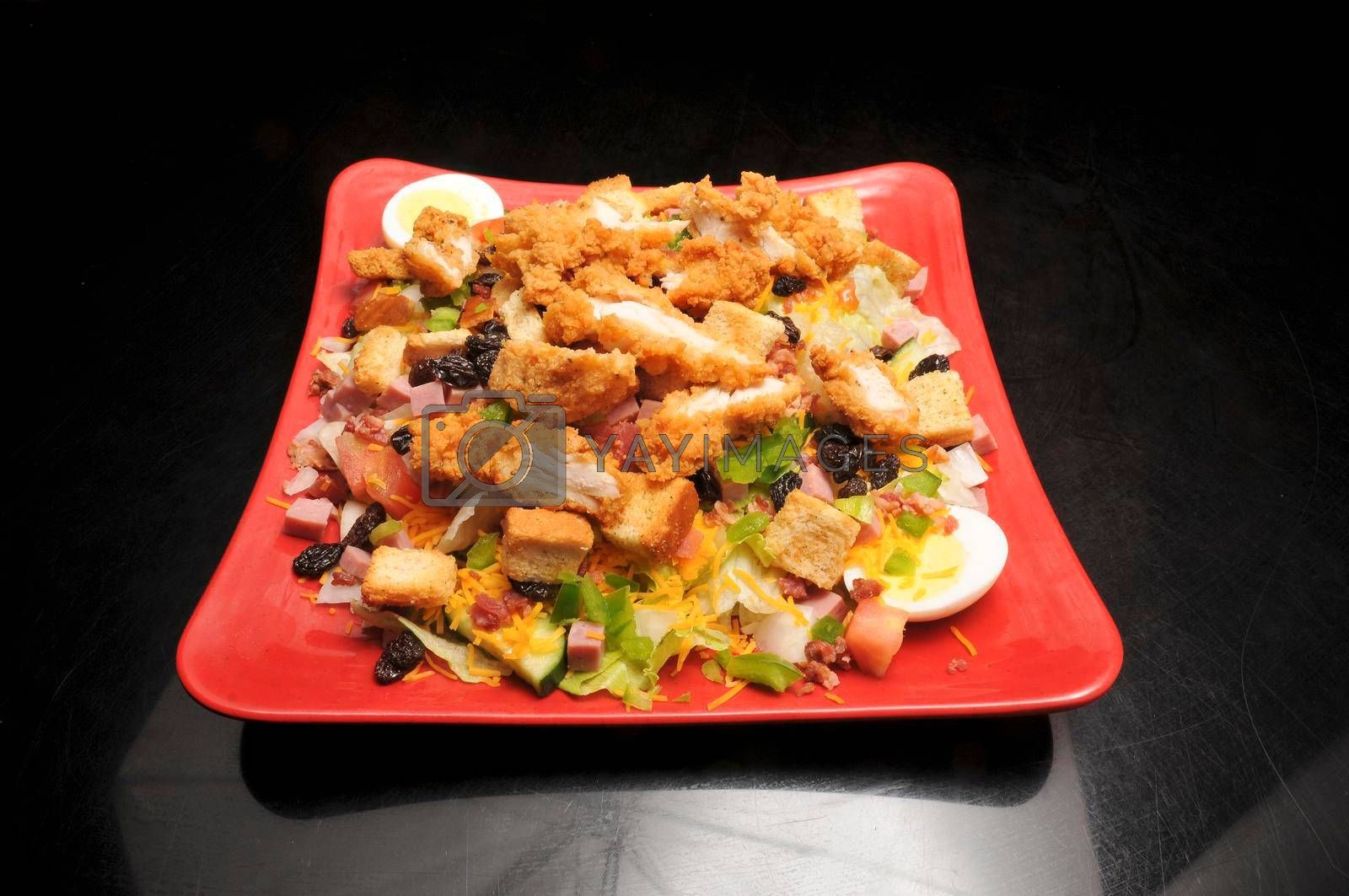 Royalty free image of Fried Chicken Salad by robeo
