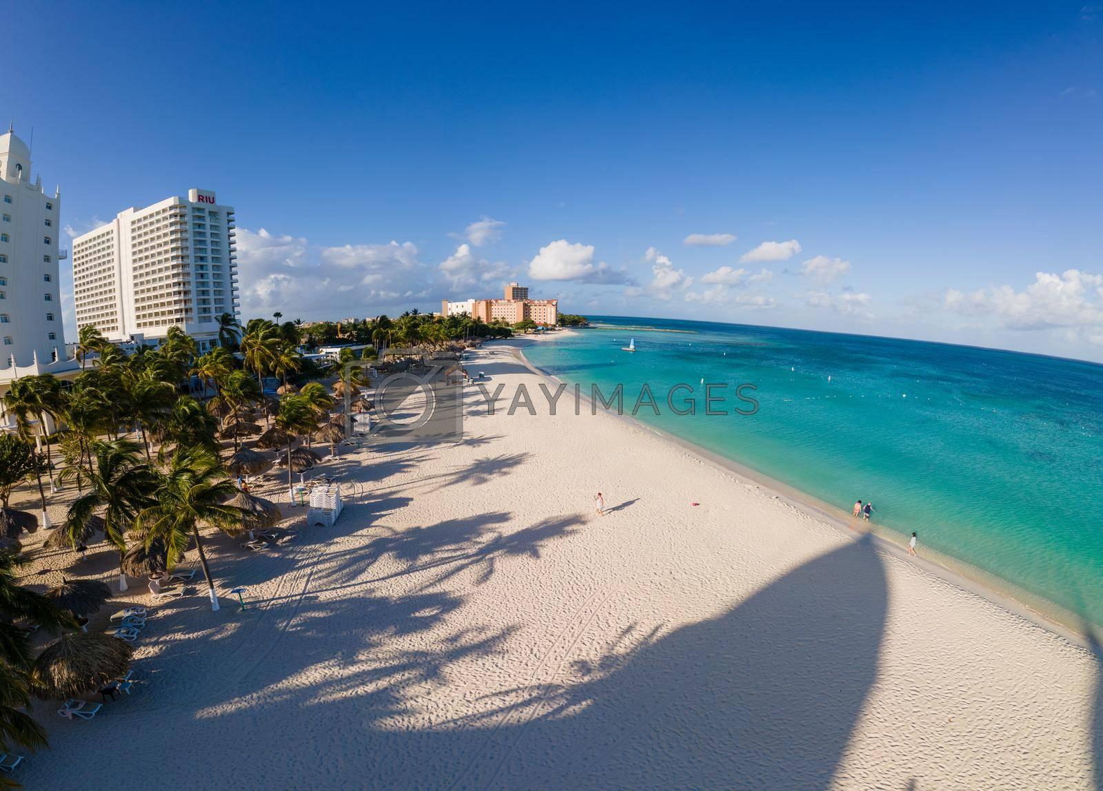 Aruba March 2021, Luxury hotels at Palm Beach Aruba Caribbean