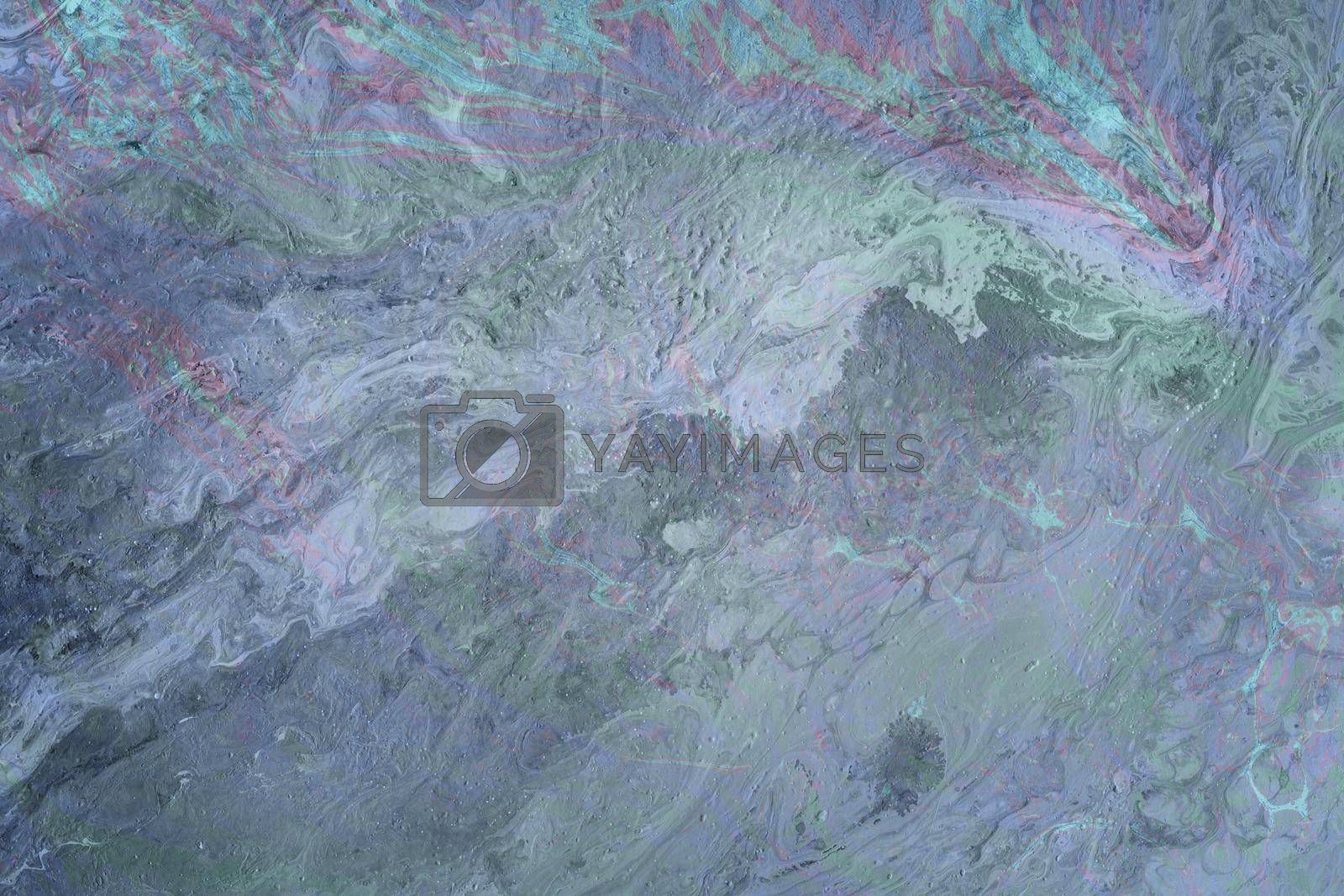 Blue and burgundy abstract acrylic background, marble background effect or texture. Close-up of the creative background for your design